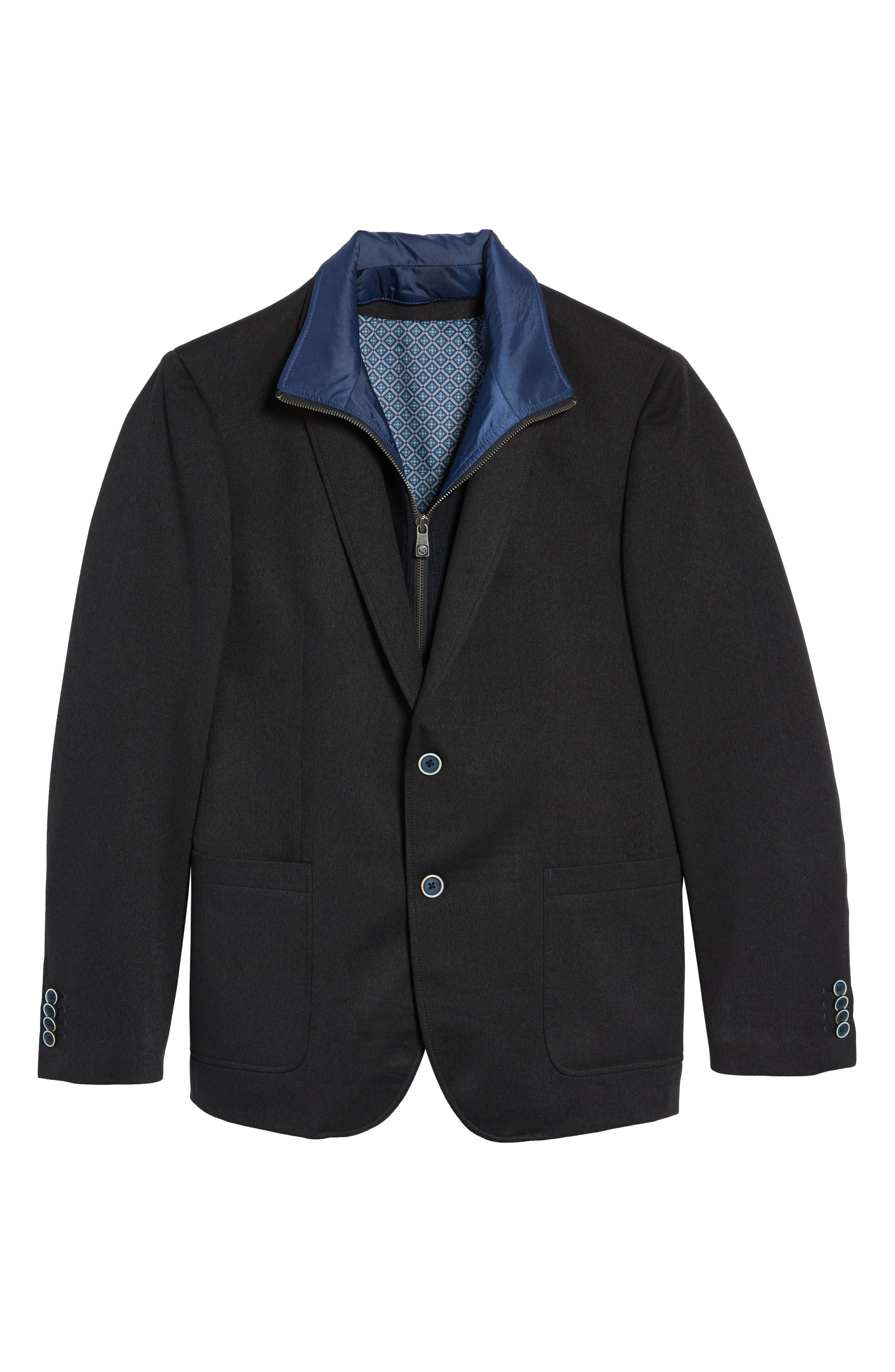 Broderick Technical Outerwear Jacket with Detachable Knit Bib,                             Alternate thumbnail 6, color,                             Navy