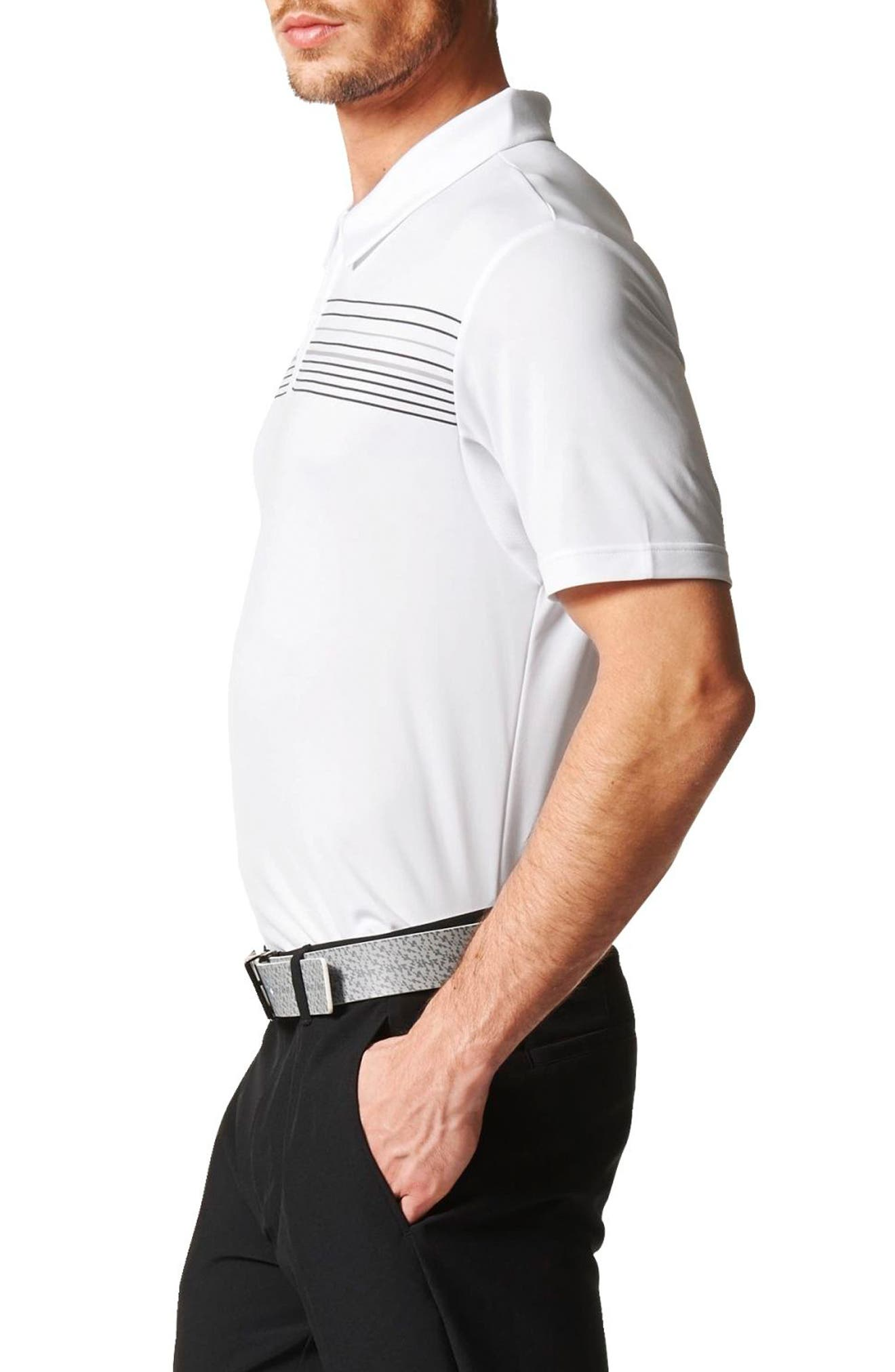 Alternate Image 3  - adidas Chest Stripe Golf Polo