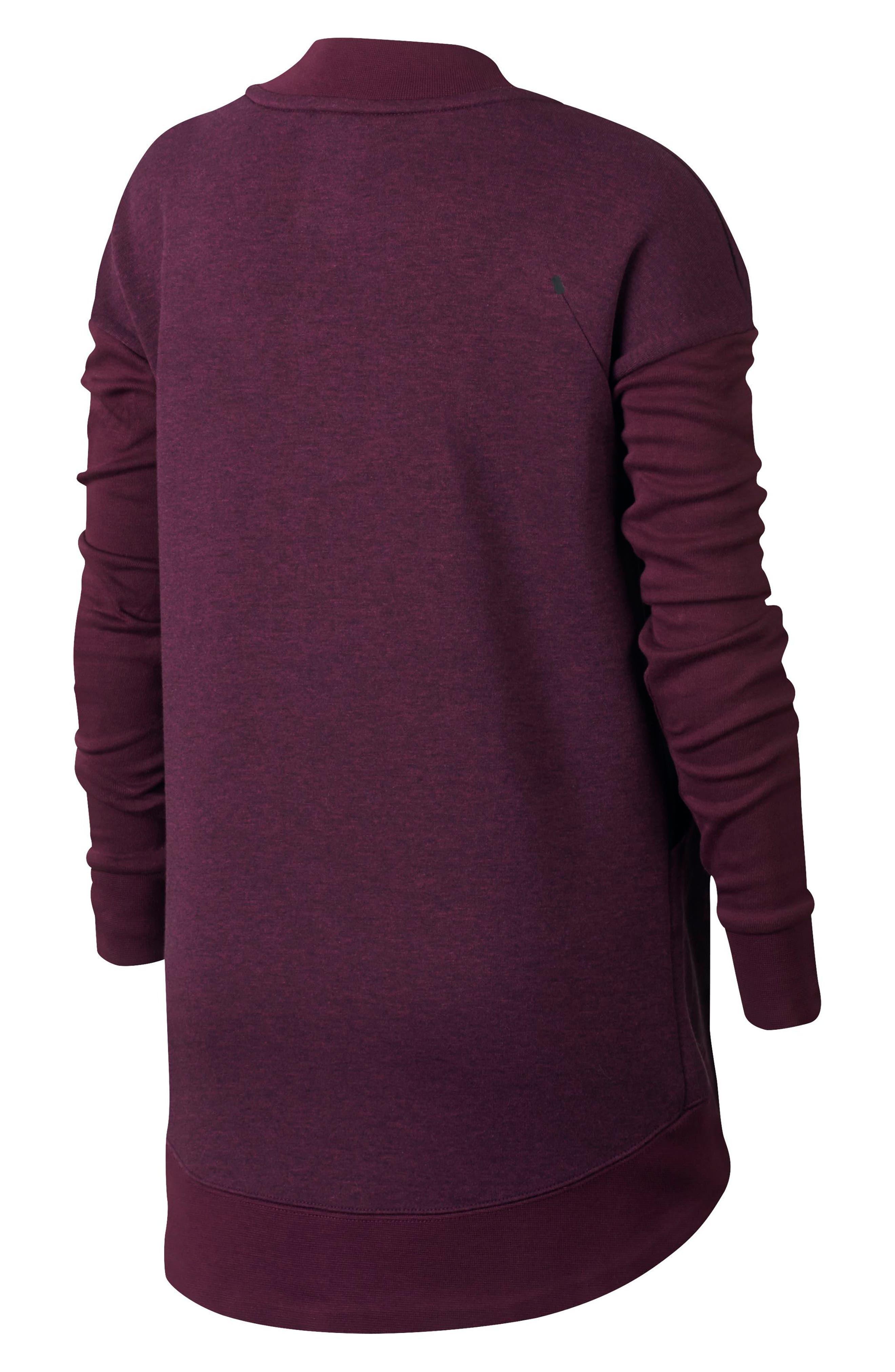 Alternate Image 2  - Nike Tech Fleece Zip Jacket (Big Girls)