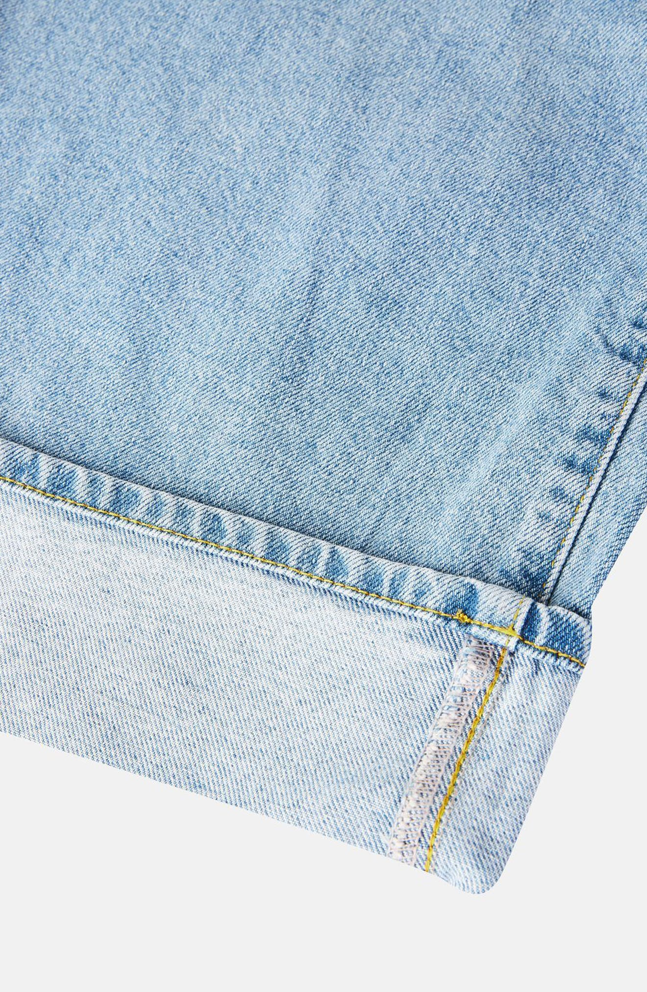 Alternate Image 7  - Topshop Boutique Frayed Waist Super Wide Leg Jeans