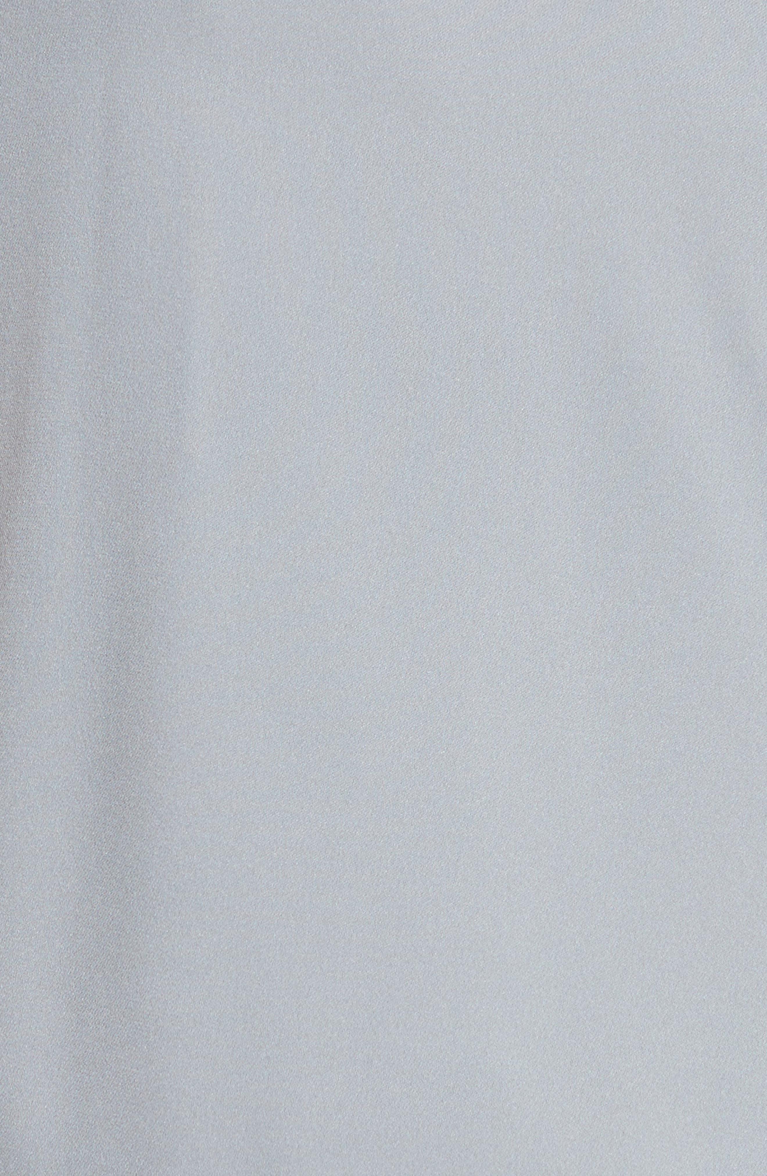Alternate Image 5  - Milly Cindy One-Shoulder Stretch Silk Top