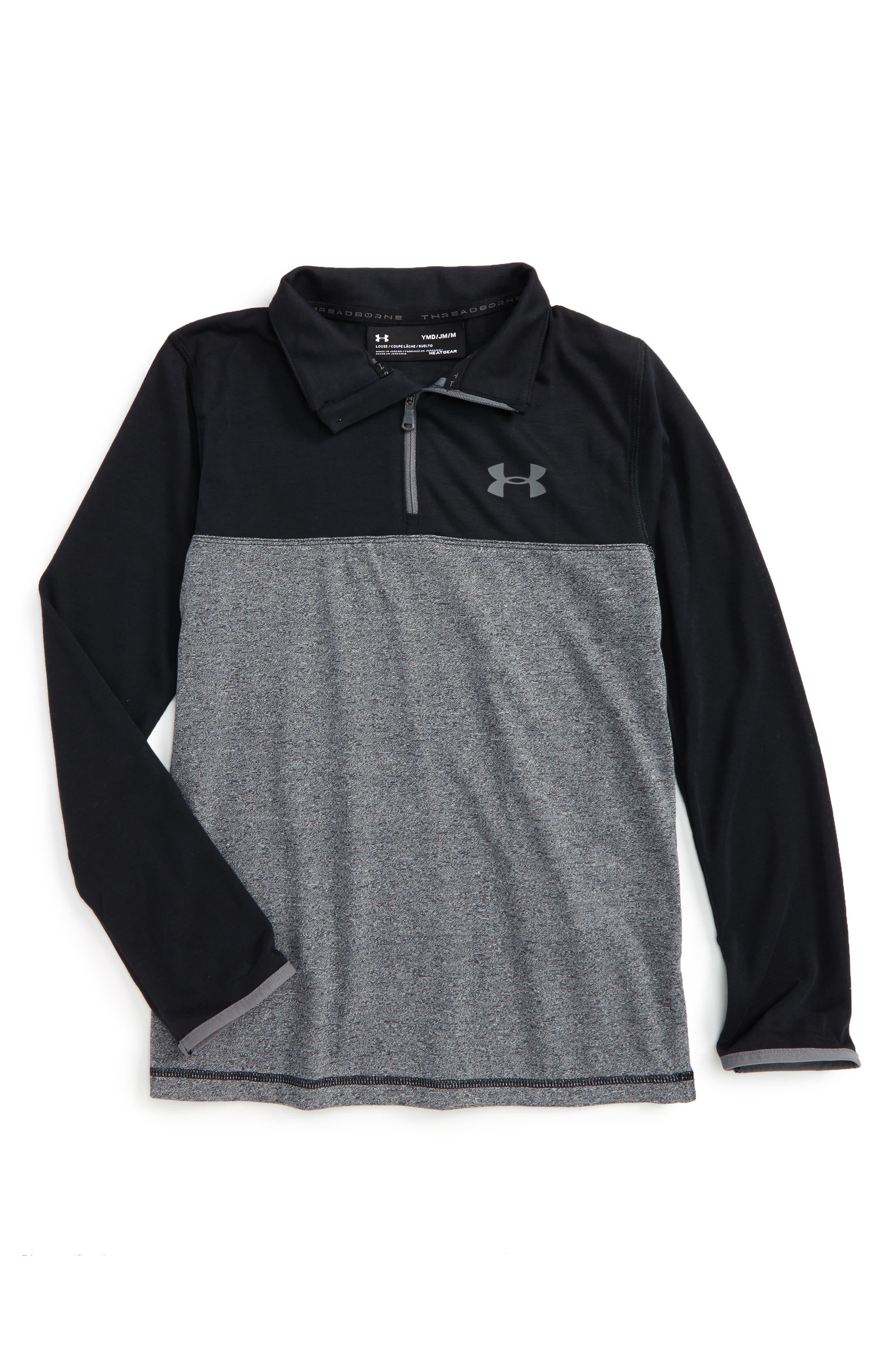 Under Armour Threadborne HeatGear® Quarter Zip Pullover (Big Boys)