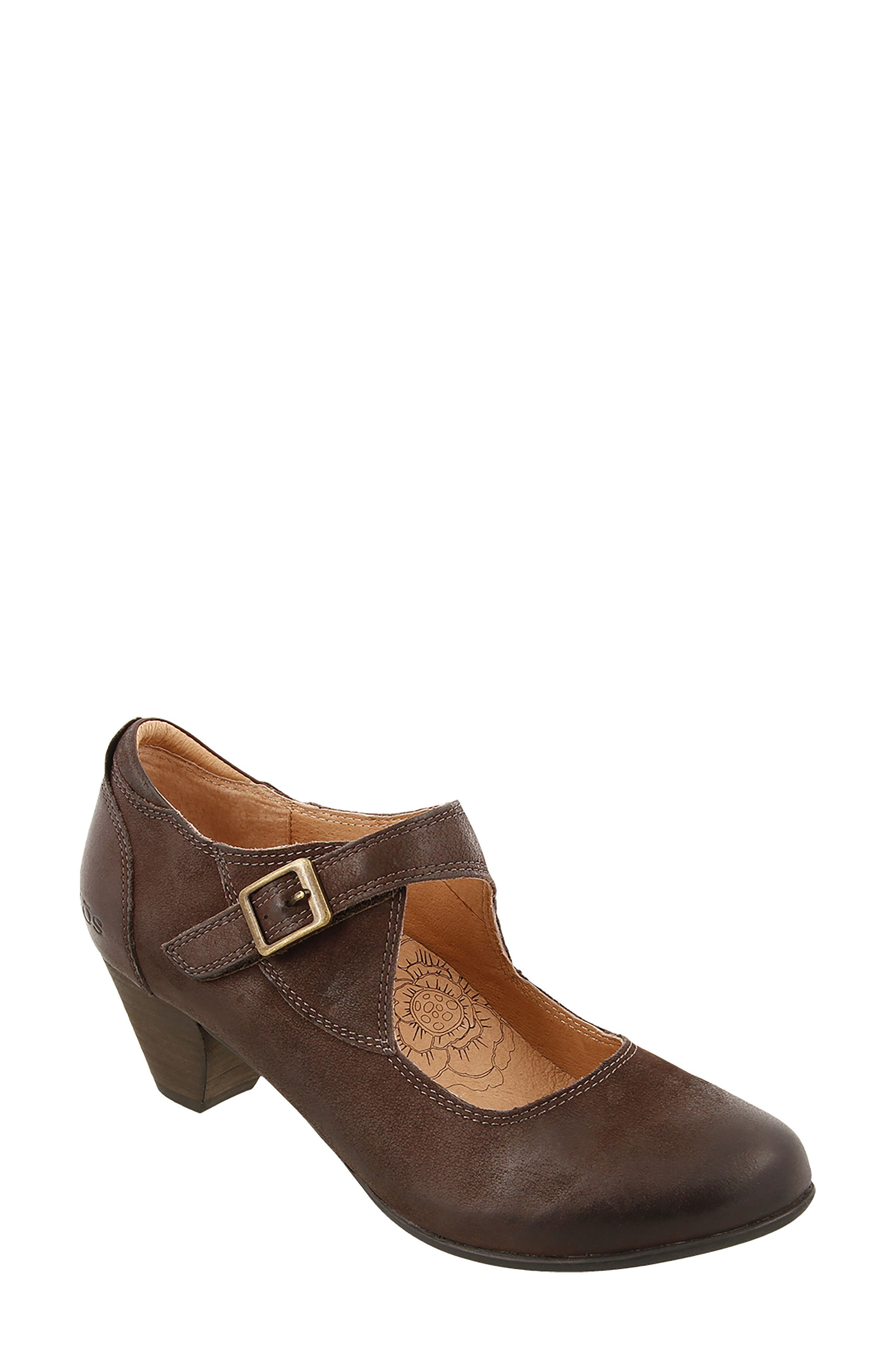 Studio Mary Jane Pump,                             Main thumbnail 1, color,                             Chocolate Oiled Leather