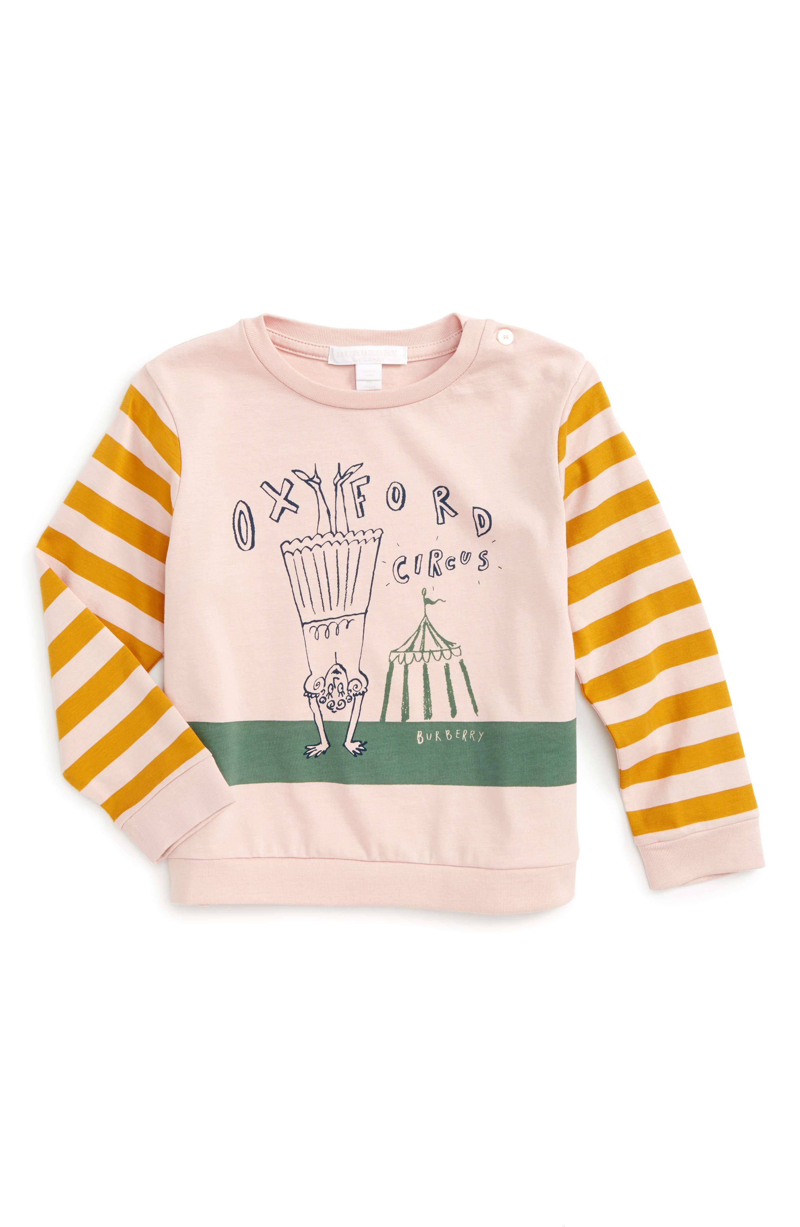London Icons Graphic Cotton Tee,                         Main,                         color, Chalk Pink