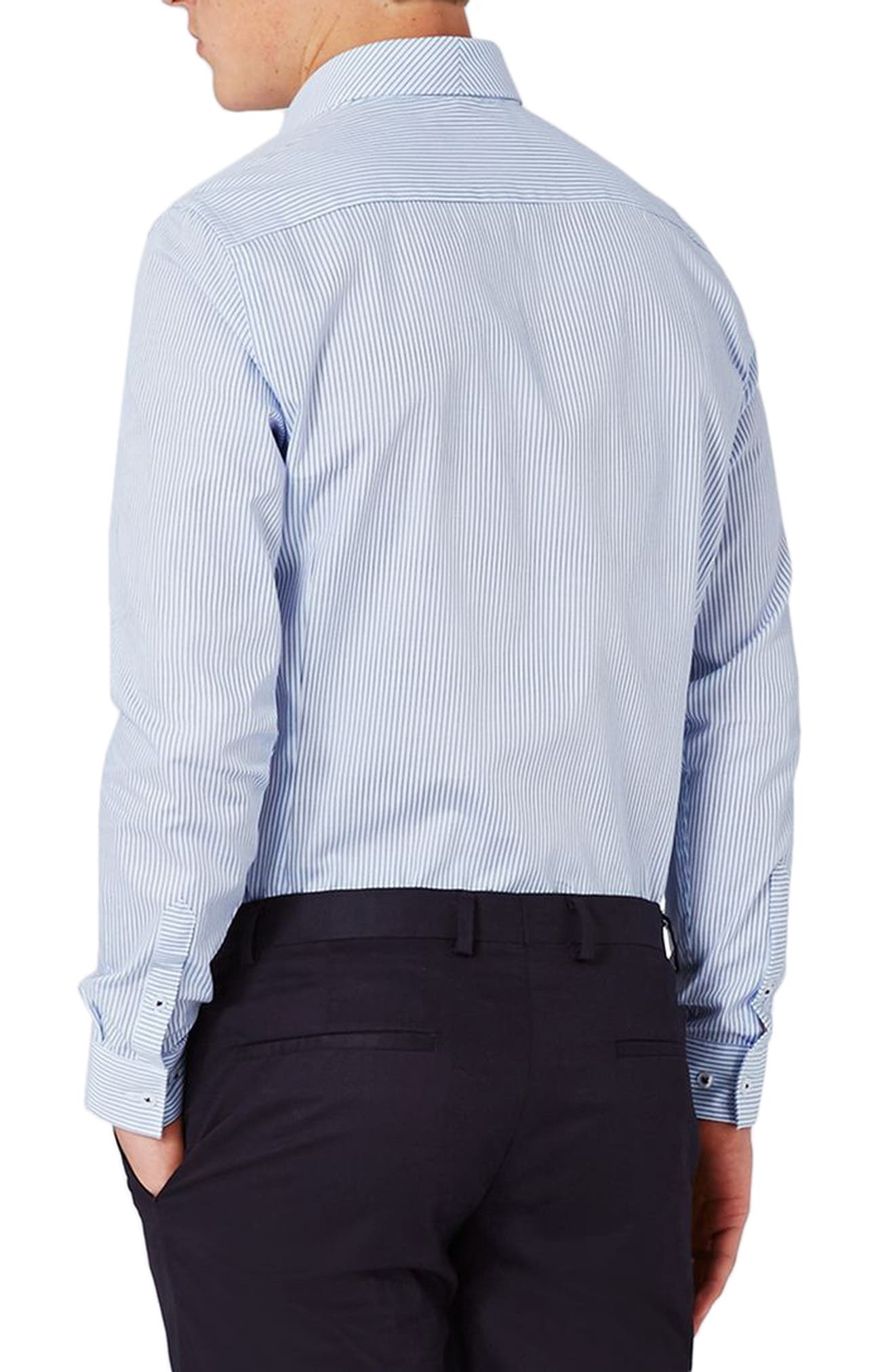 Alternate Image 3  - Topman Slim Fit Bias Stripe Dress Shirt