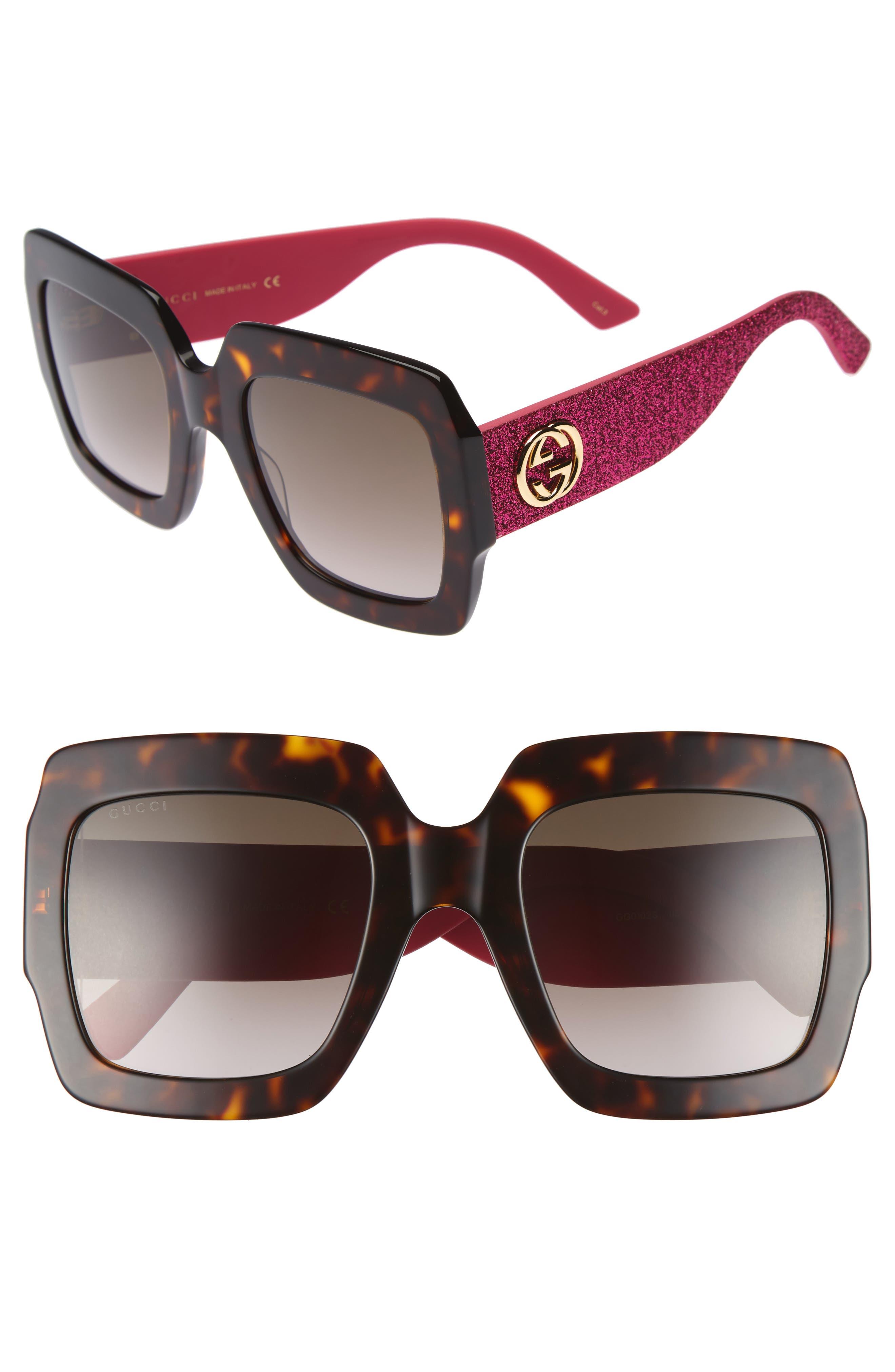 54mm Square Sunglasses,                         Main,                         color, Havana/ Brown