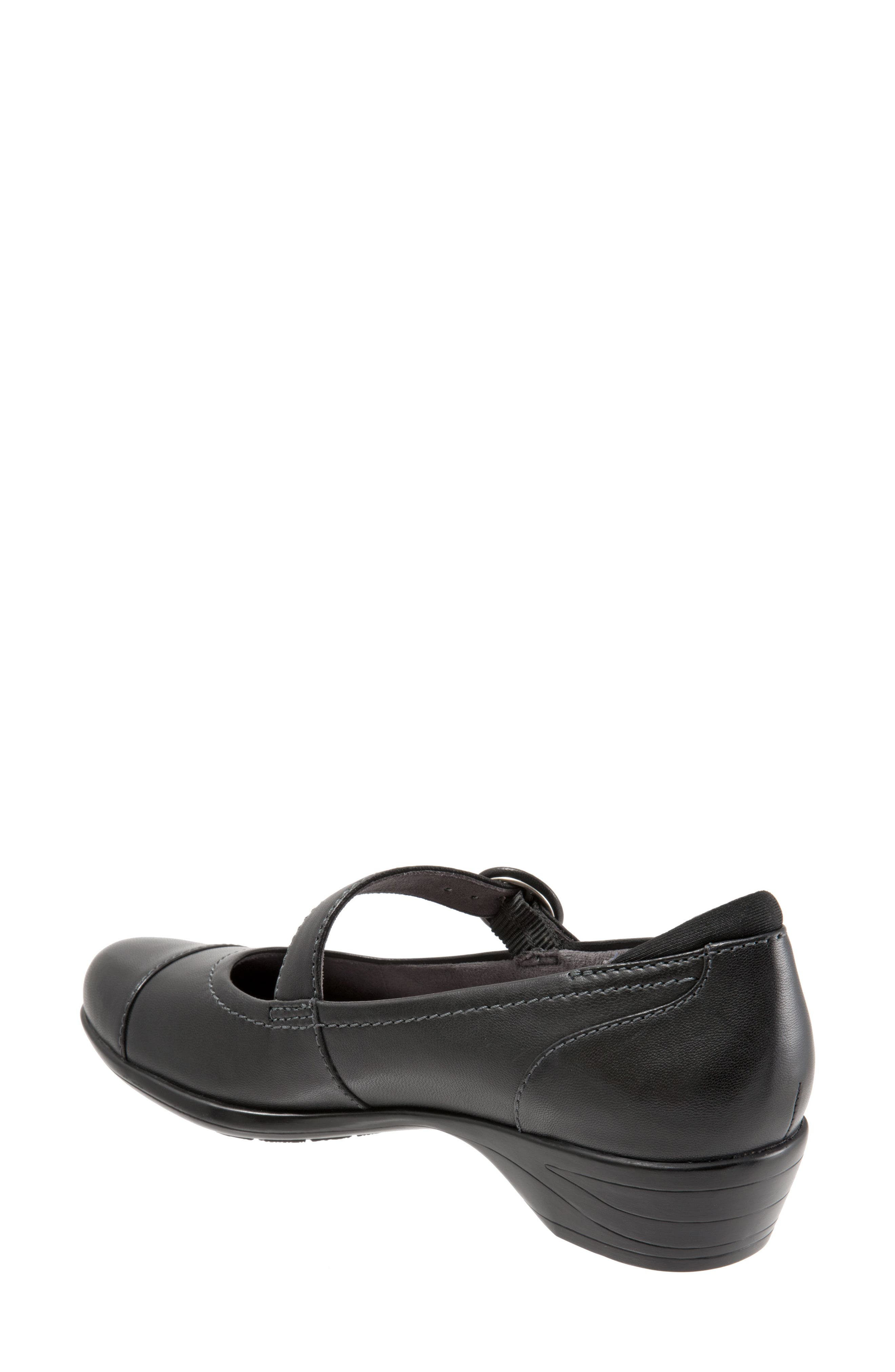 Chatsworth Mary Jane Pump,                             Alternate thumbnail 5, color,                             Black Leather