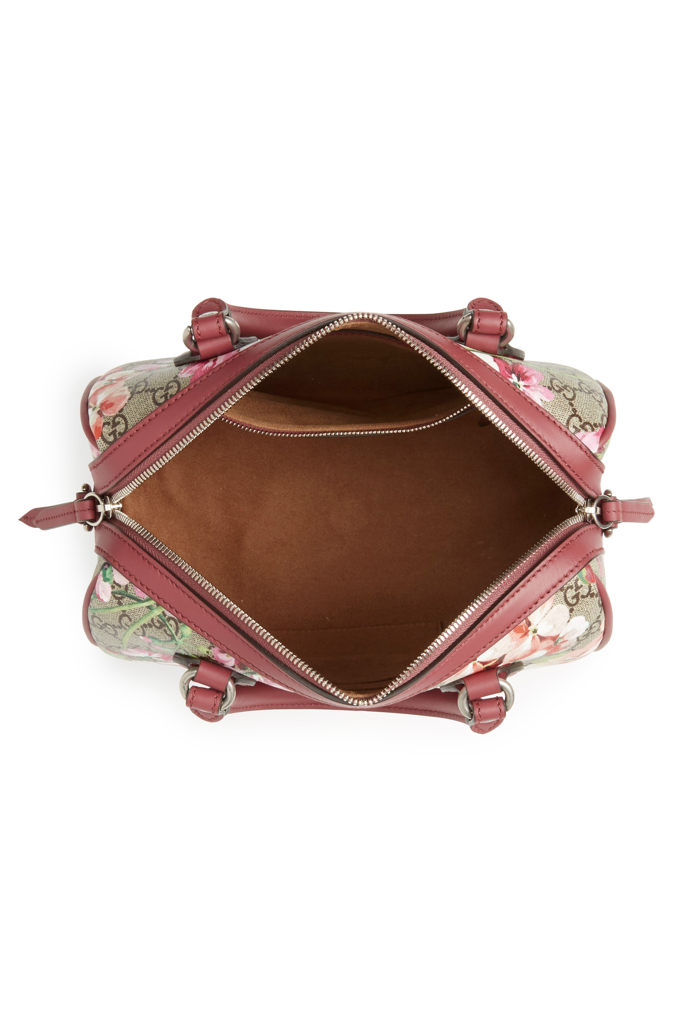 Small Blooms Top Handle GG Supreme Canvas Bag,                             Alternate thumbnail 6, color,                             Multi/Dry Rose