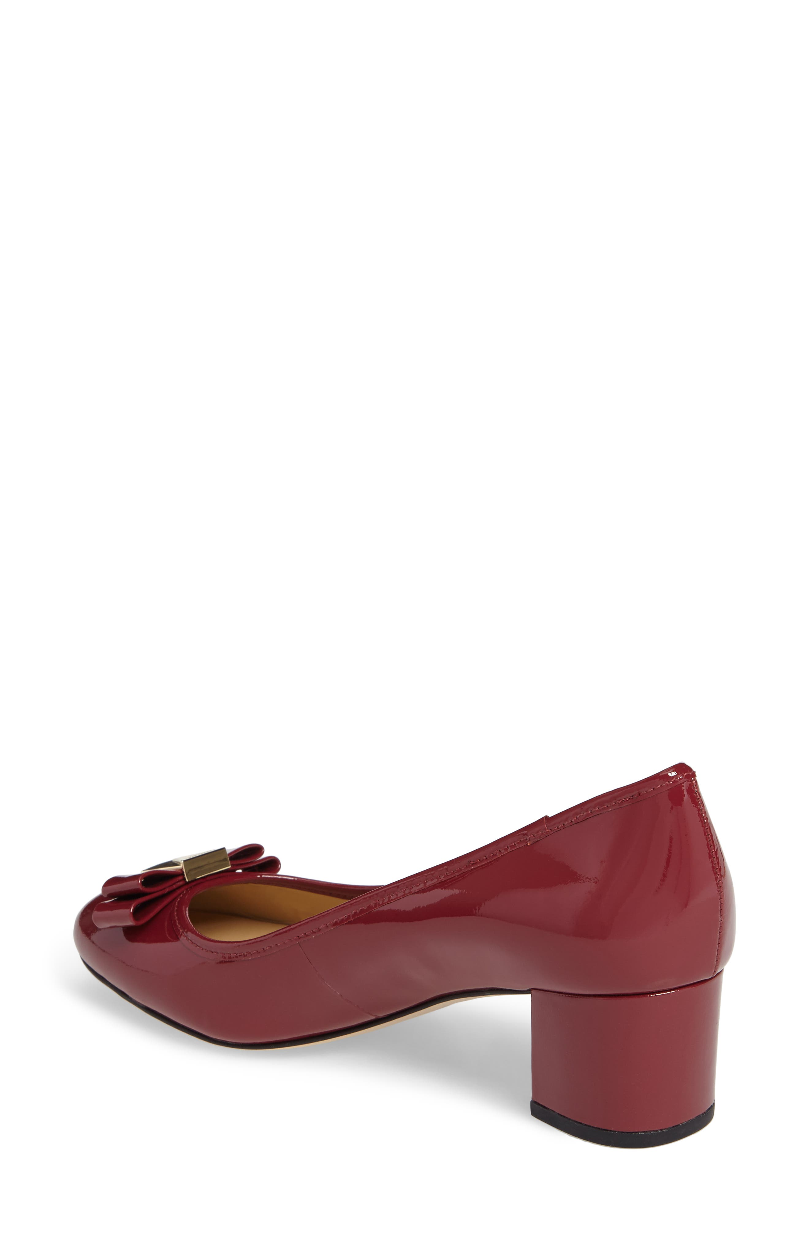 Caroline Pump,                             Alternate thumbnail 2, color,                             Mulberry Patent Leather