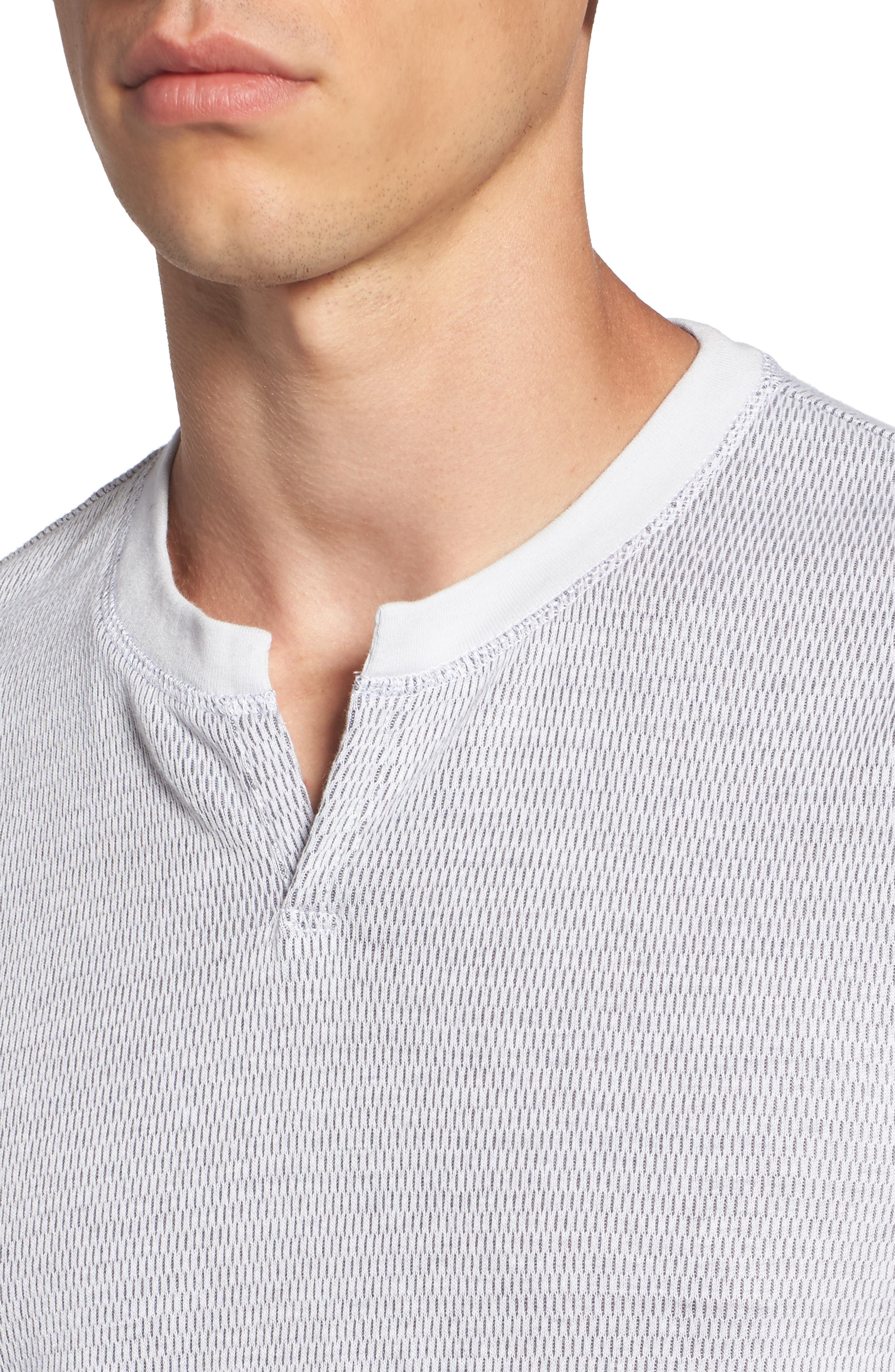 Alternate Image 4  - The Rail Notch Neck Thermal T-Shirt (2 for $50)