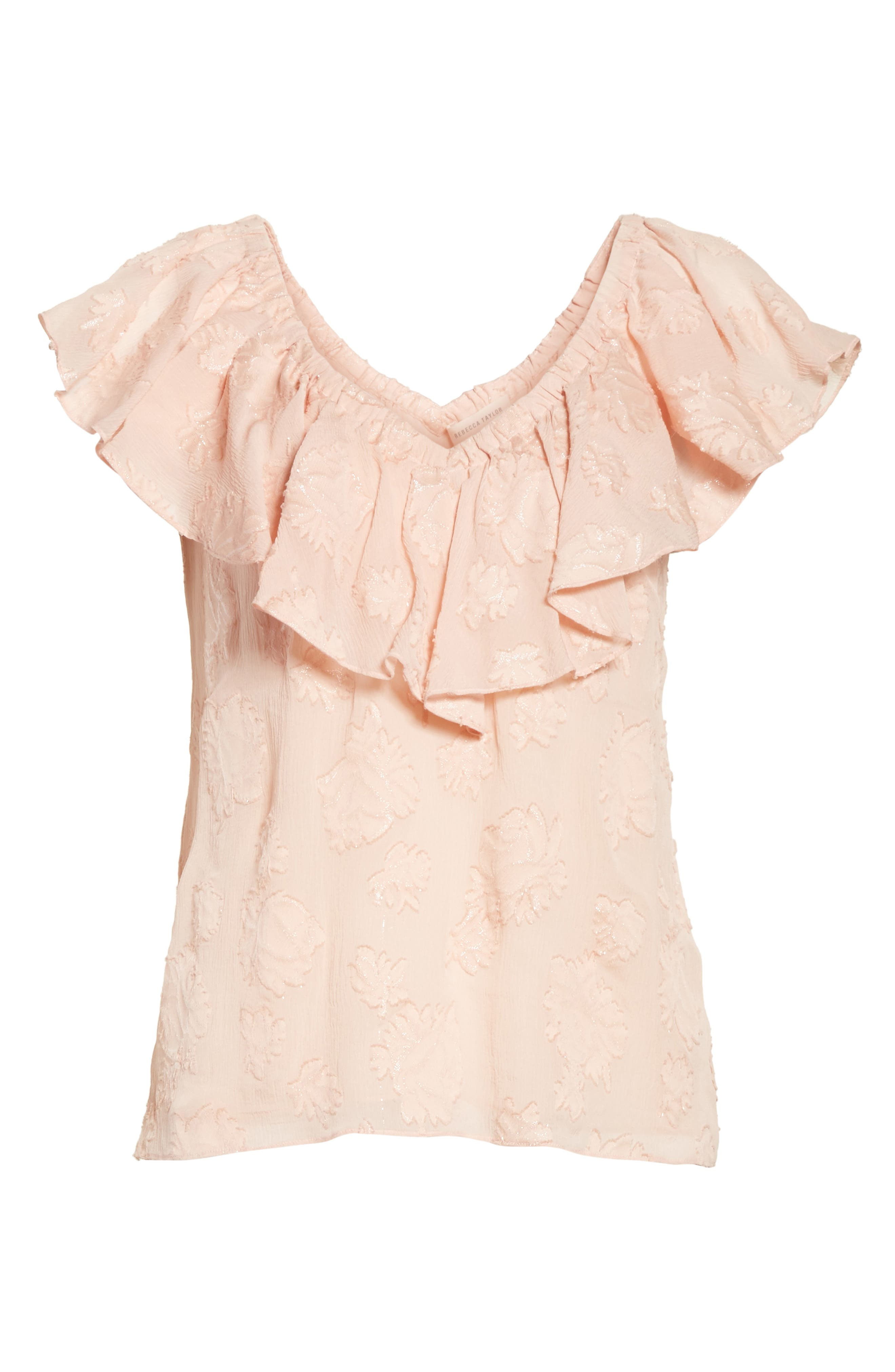 Alternate Image 6  - Rebecca Taylor Rose Metallic Top