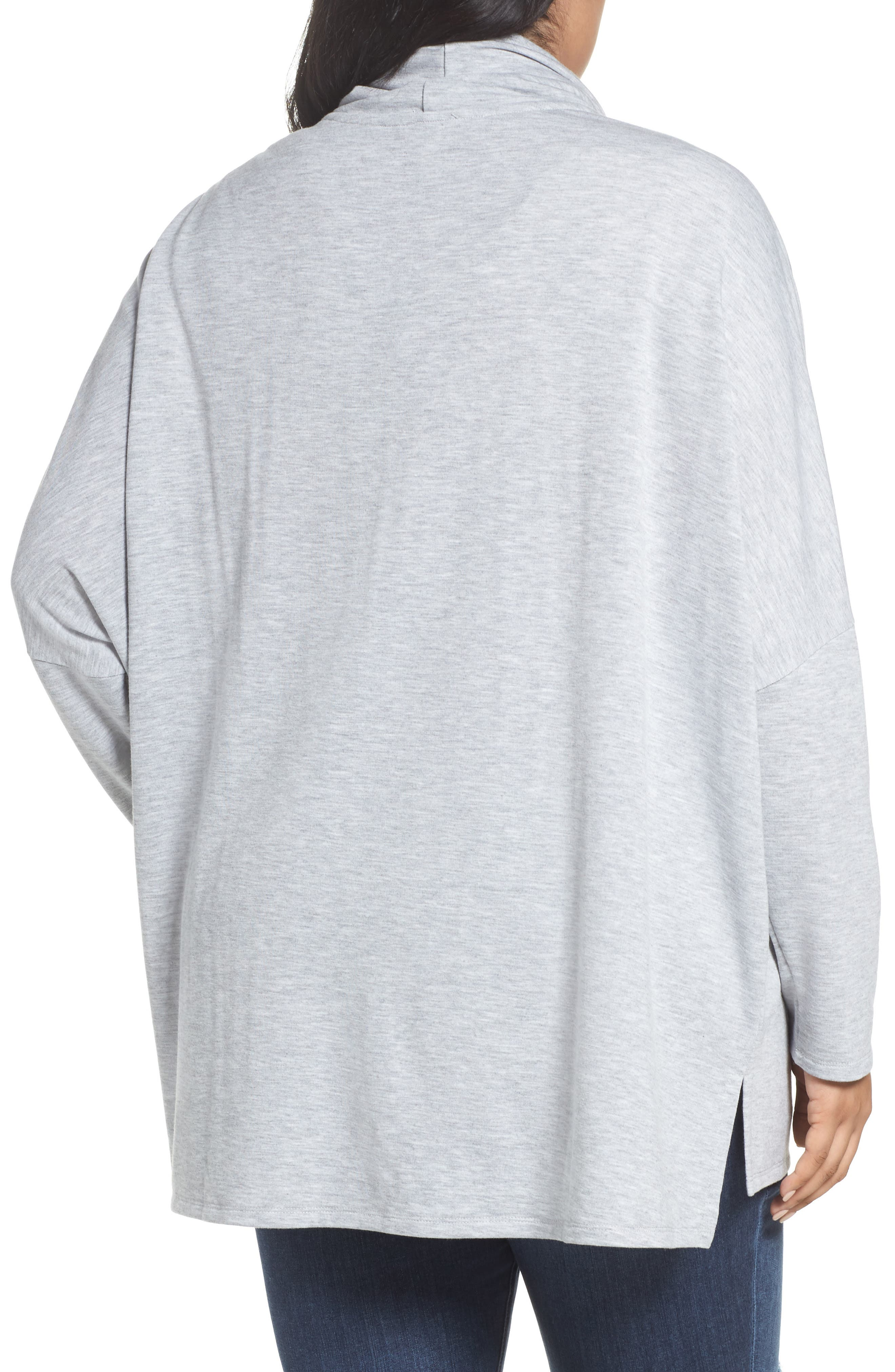 Cowl Neck Tunic,                             Alternate thumbnail 2, color,                             Grey Heather