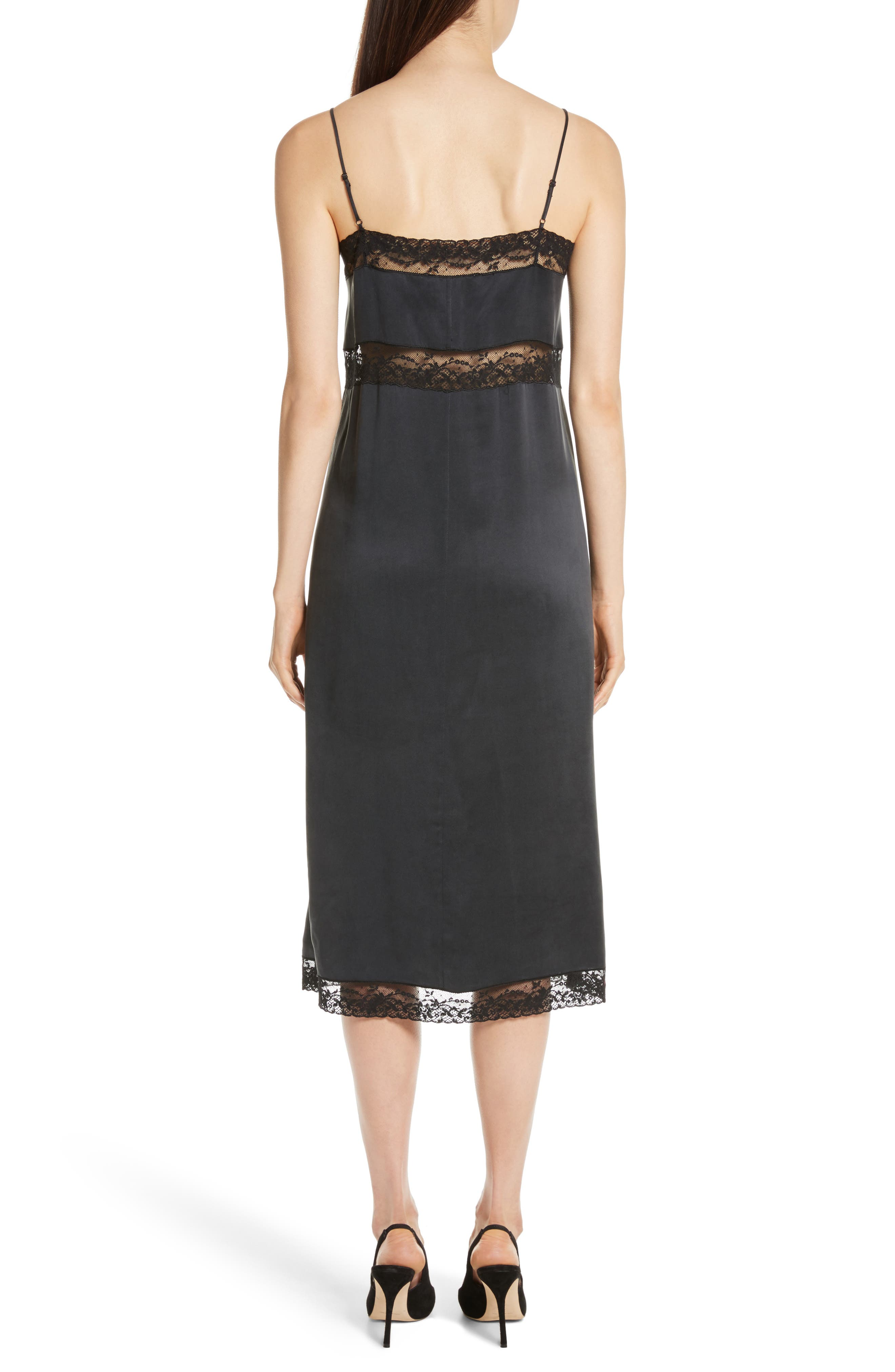 Alternate Image 2  - Robert Rodriguez Lace Trim Silk Slipdress