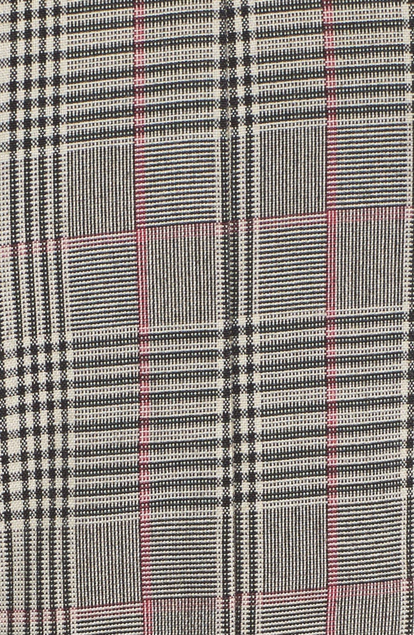 Aurora Plaid Tie Sheath,                             Alternate thumbnail 5, color,                             Black/ Grey/ Red