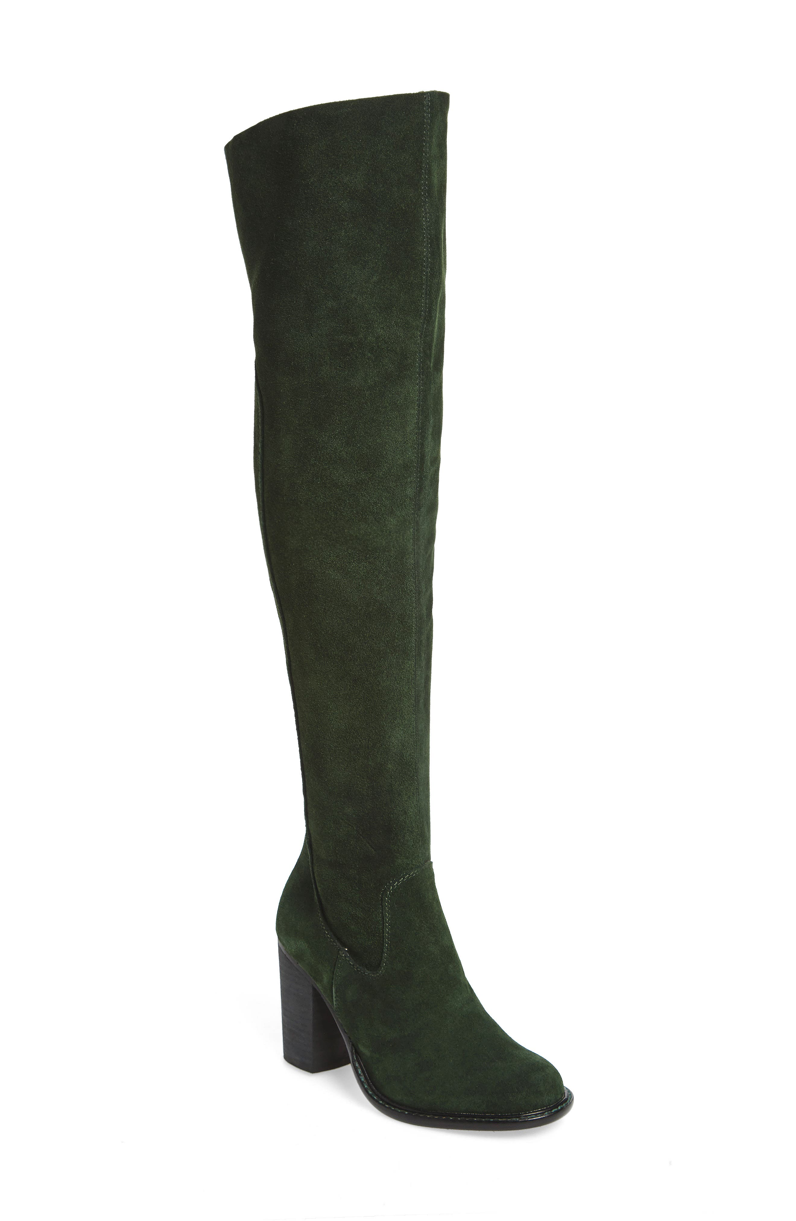 Logan Over the Knee Boot,                             Main thumbnail 1, color,                             Forest