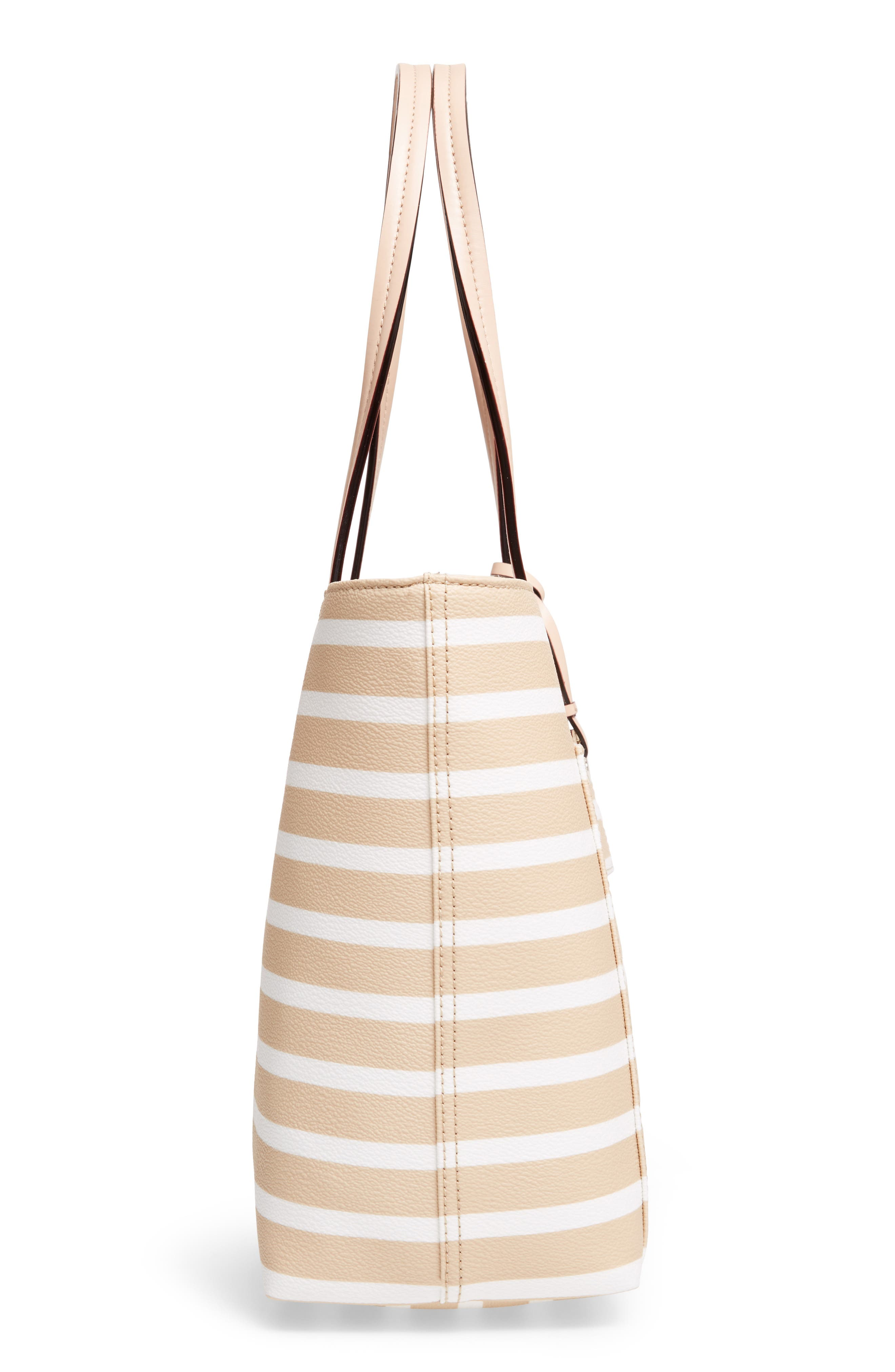 hyde lane - small riley faux leather tote,                             Alternate thumbnail 5, color,                             Classic Camel/ Cream