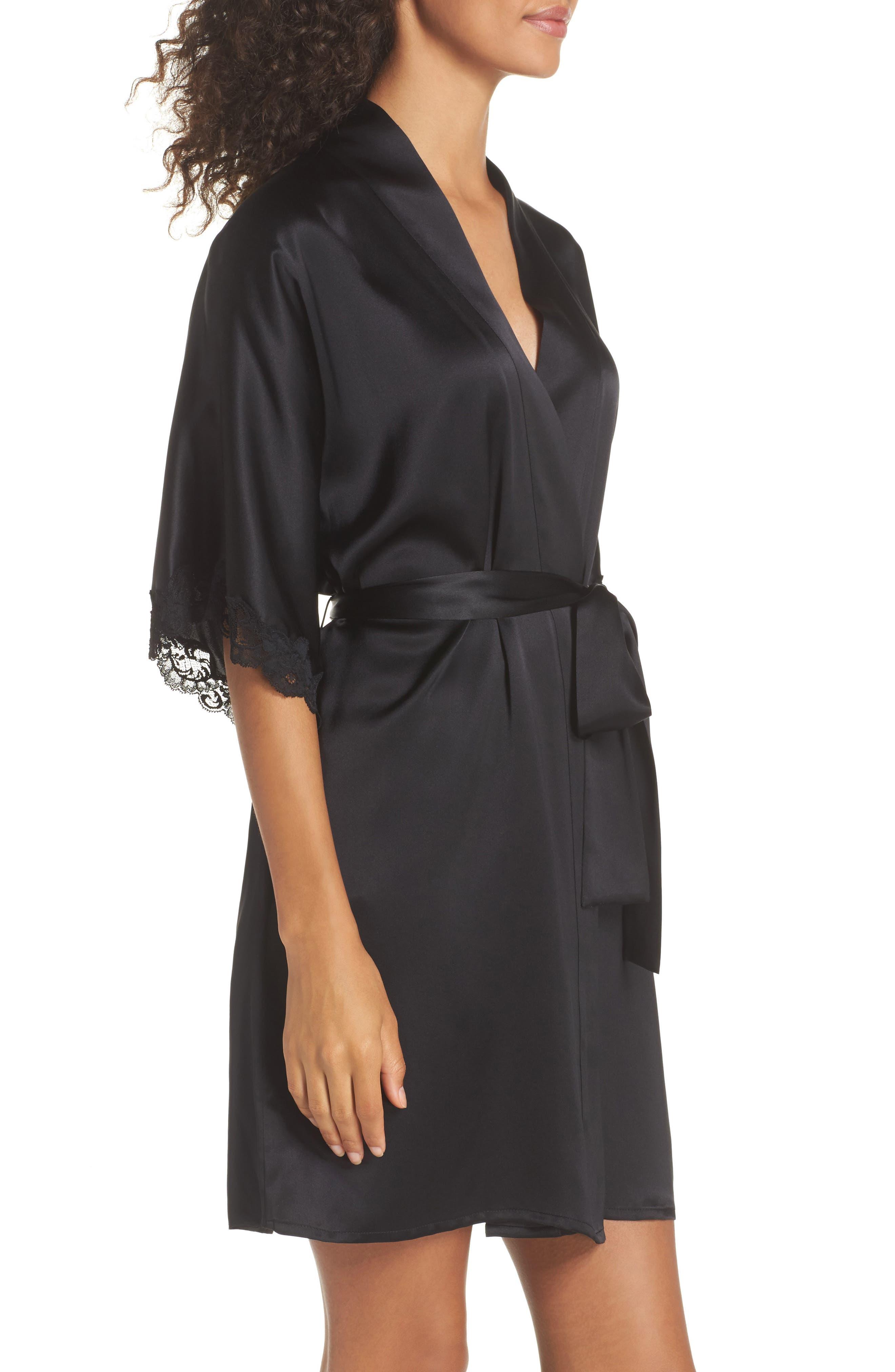 Alternate Image 3  - Christine Boudoir Silk Robe
