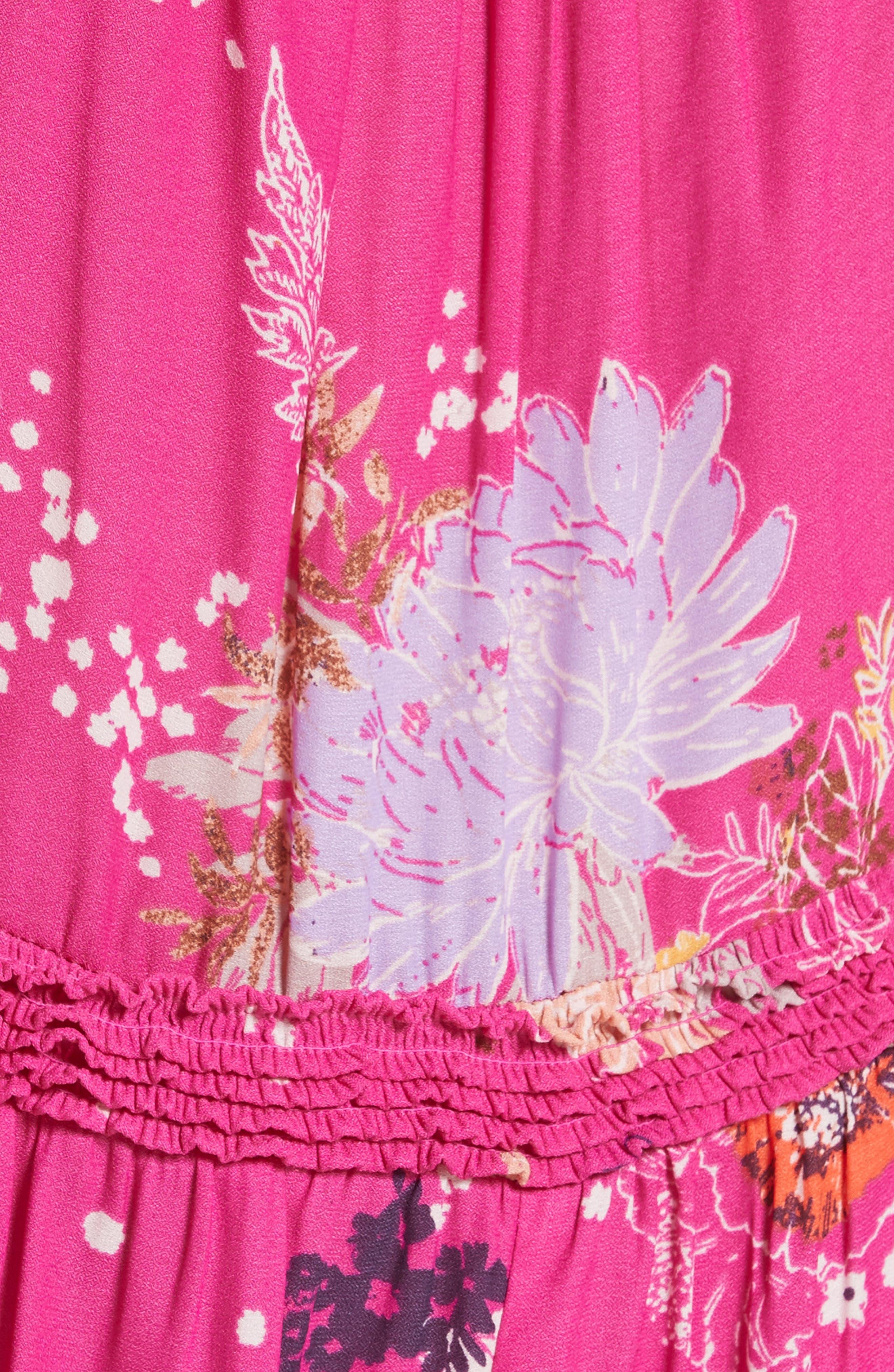 Purple Haze Floral Tunic,                             Alternate thumbnail 5, color,                             Pink