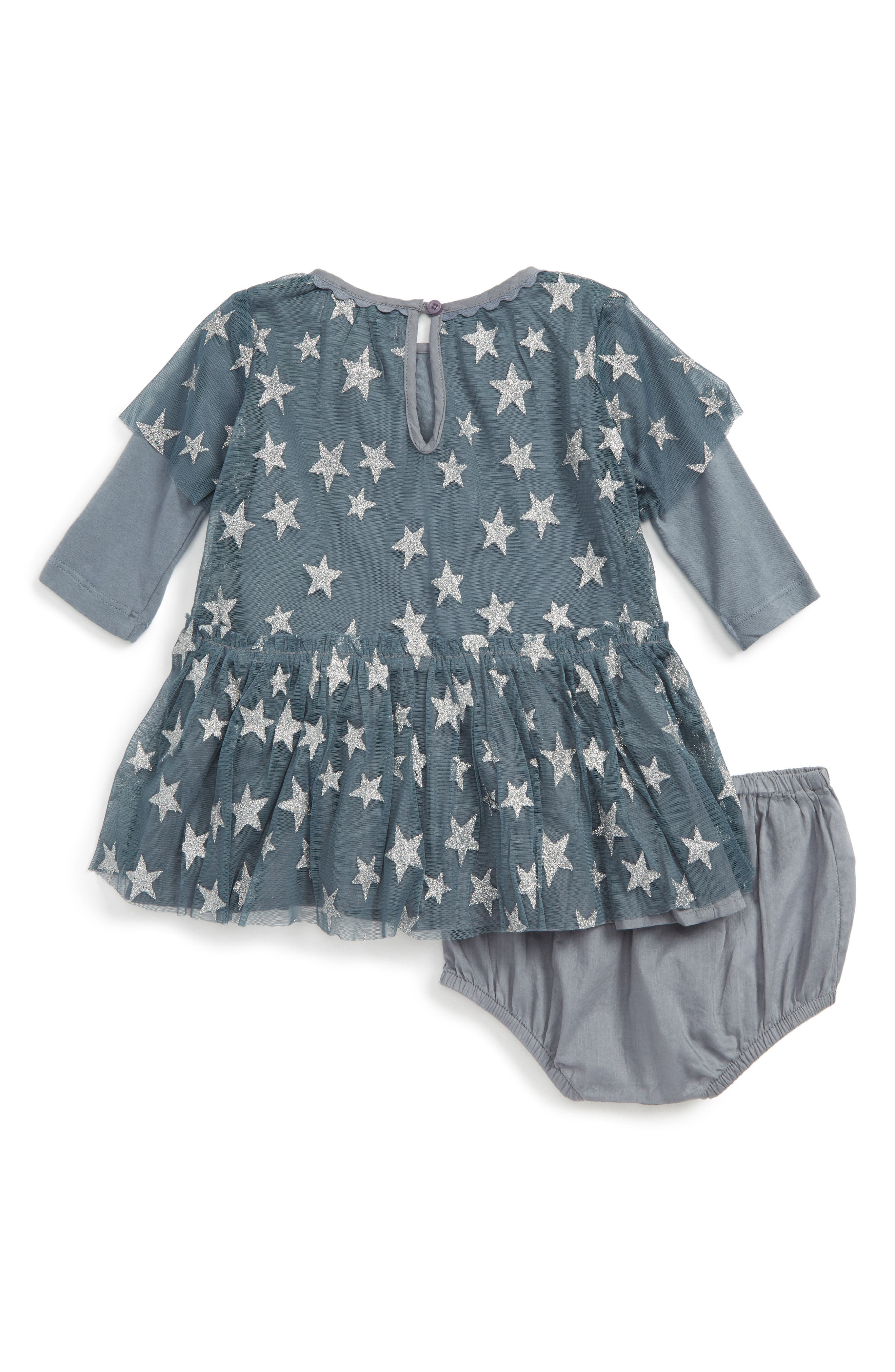 Alternate Image 2  - Stella McCartney Kids Tulle Star Dress (Baby Girls)