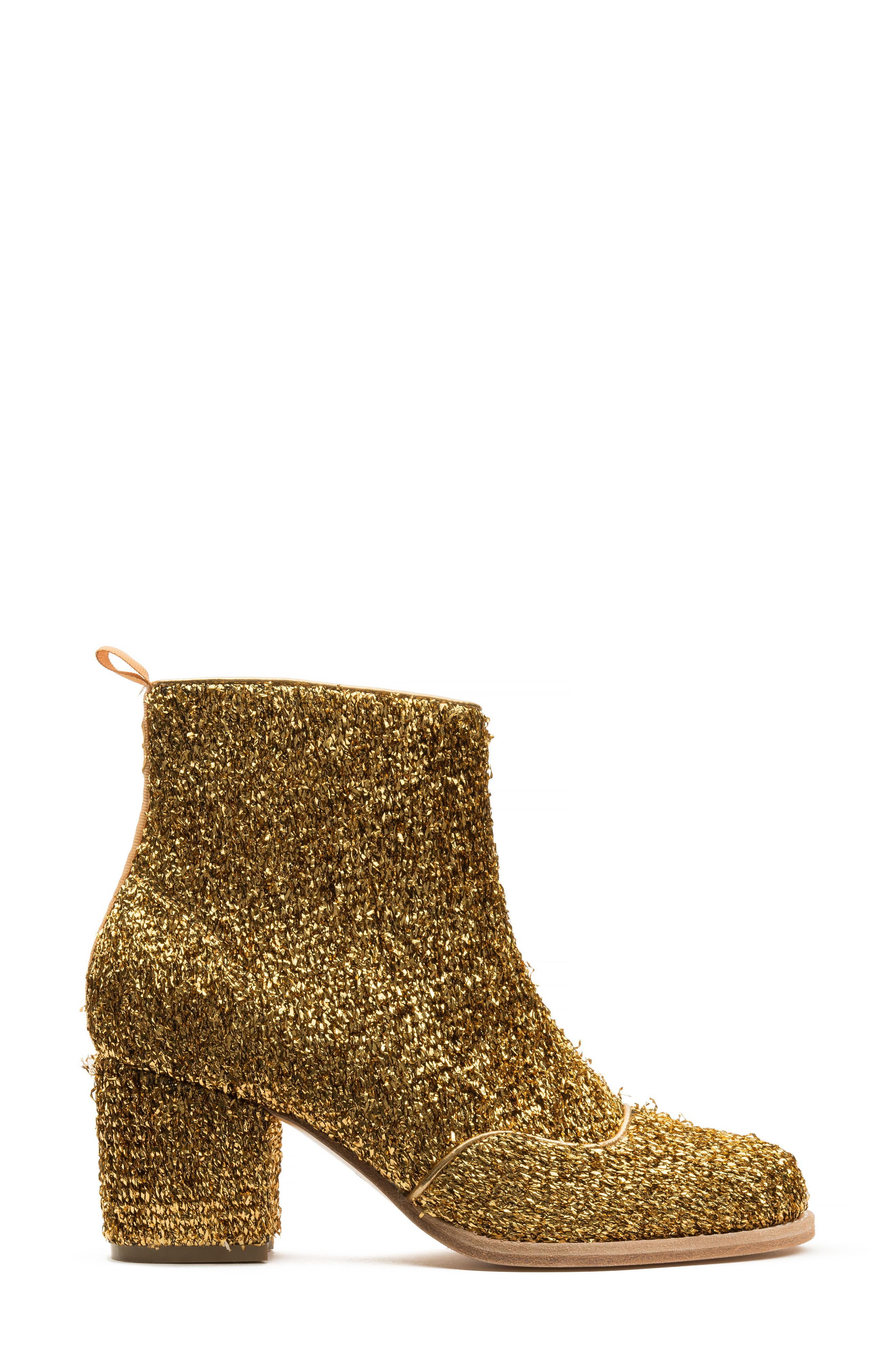 Bootie,                             Alternate thumbnail 3, color,                             Gold Tinsel Tweed