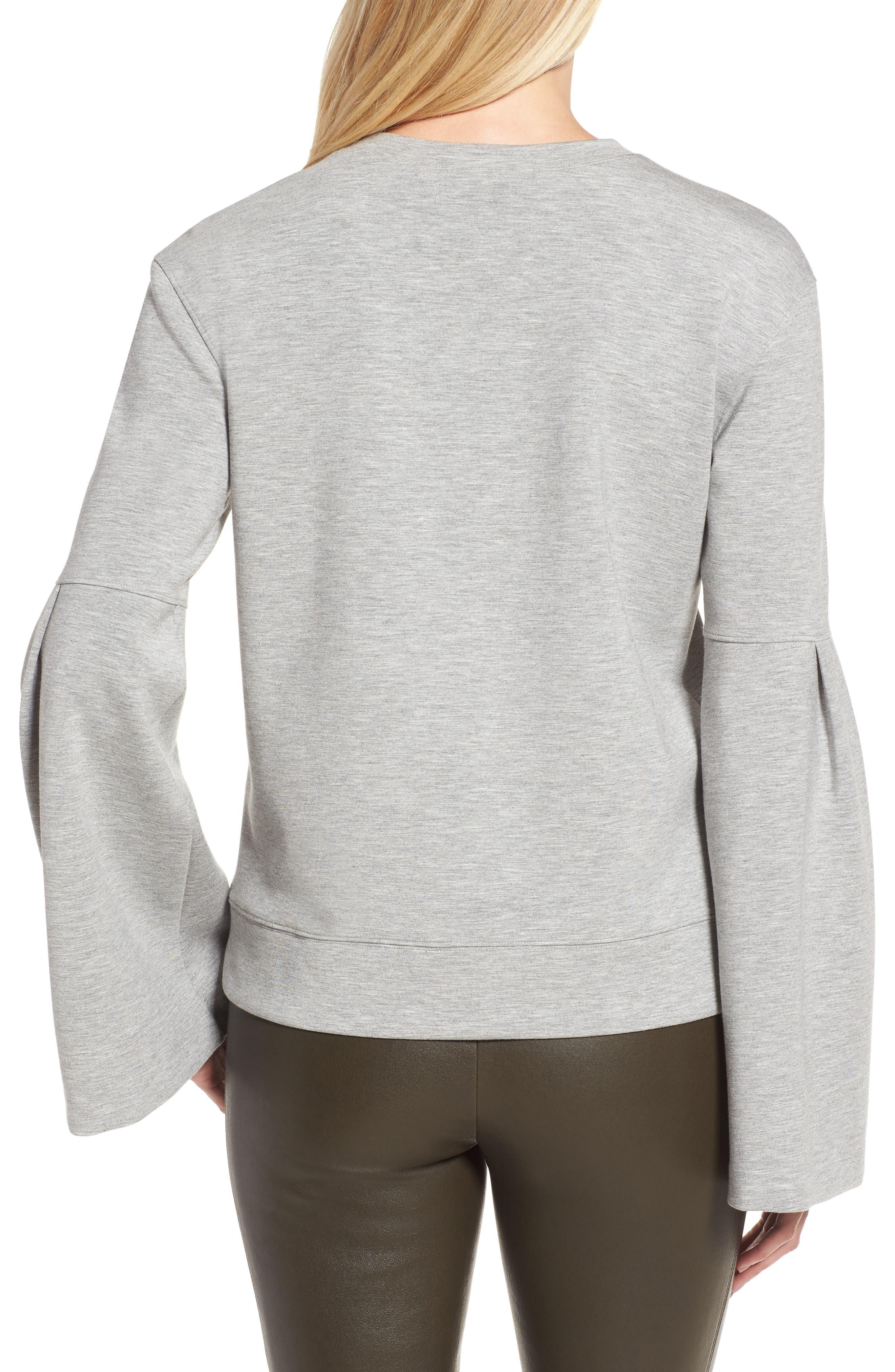 Alternate Image 2  - Nordstrom Signature Bell Sleeve Sweatshirt