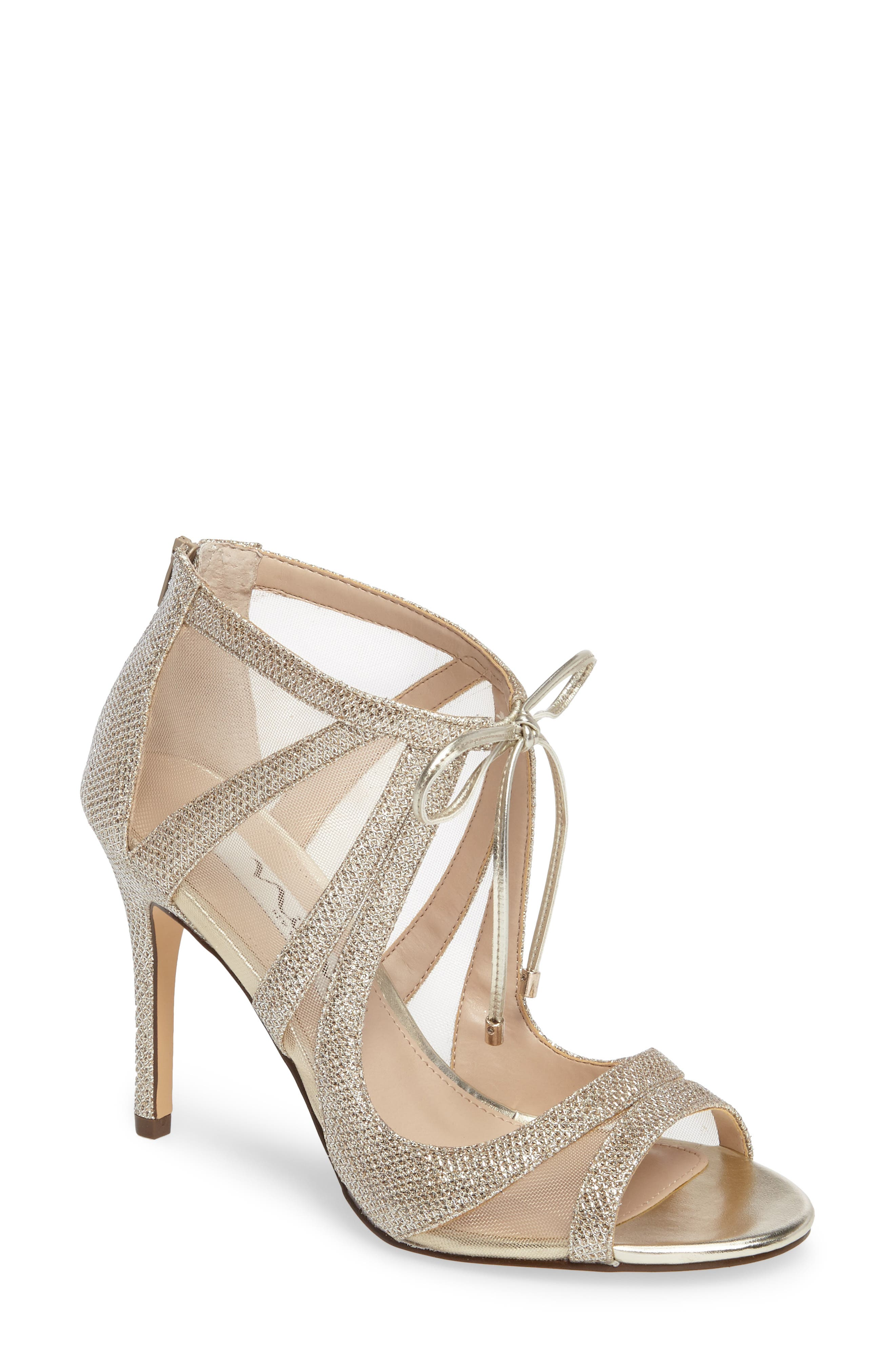 Nina Cherie Evening Sandals Women S Shoes In Soft Silver Fabric ...