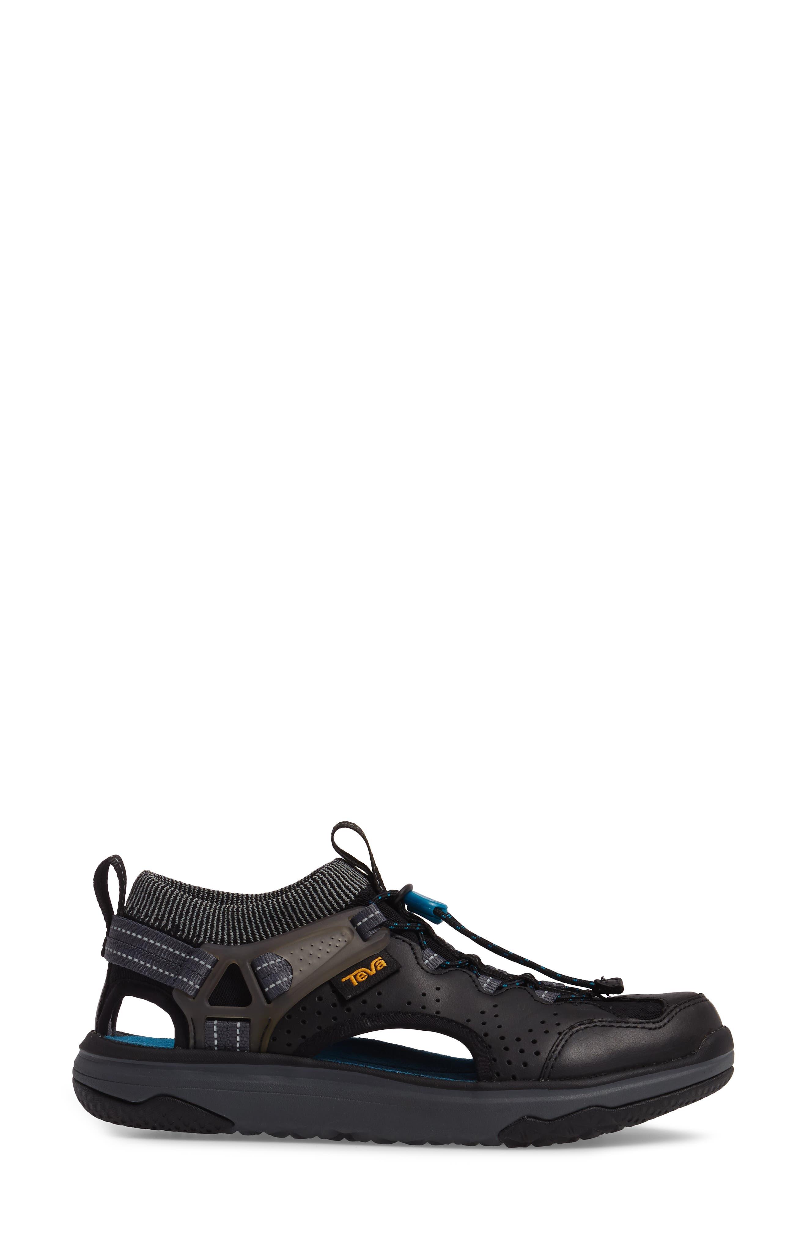 Terra Float Travel Sandal,                             Alternate thumbnail 3, color,                             Black Leather