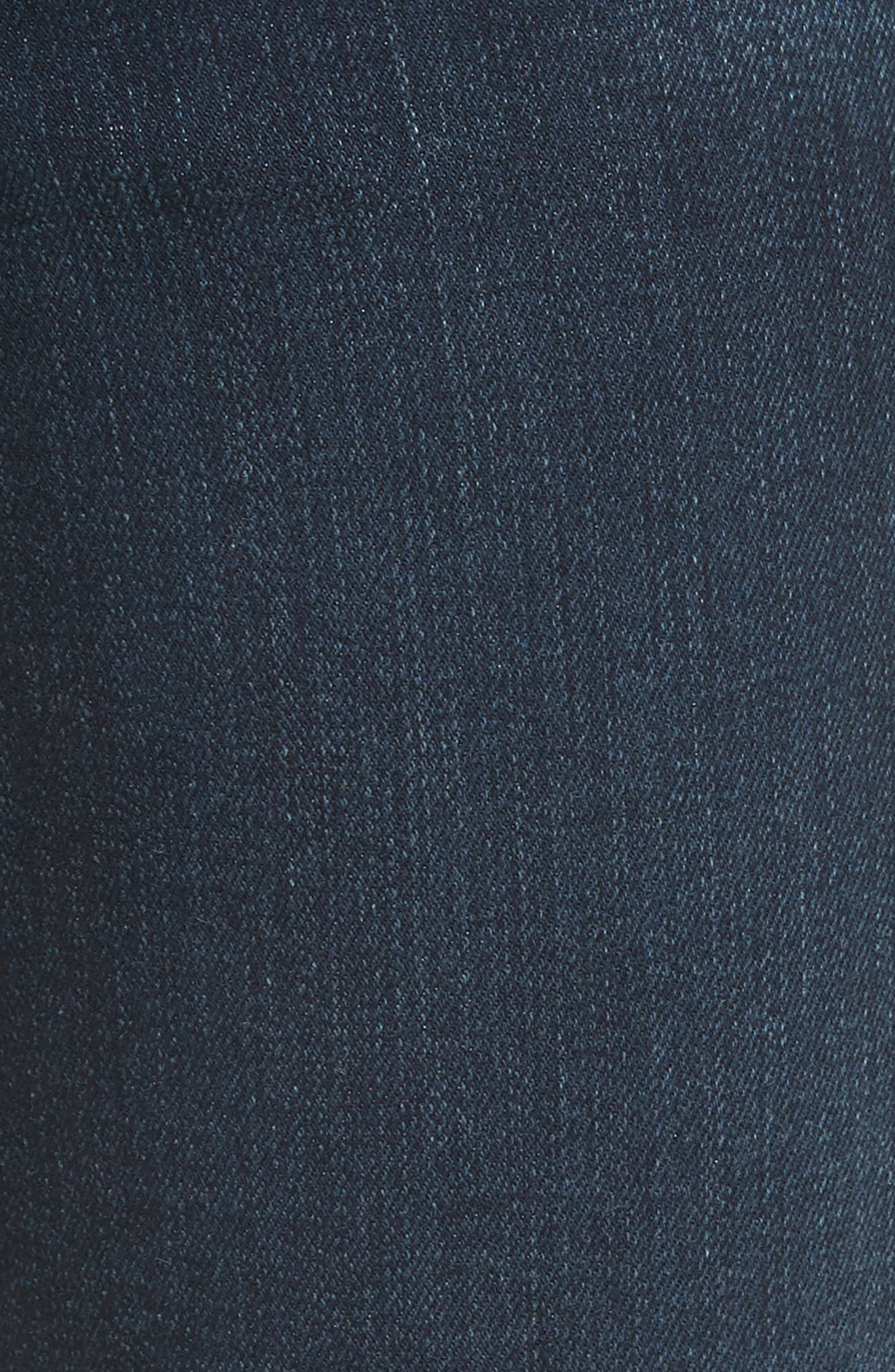 Le High Straight Raw Stagger Jeans,                             Alternate thumbnail 6, color,                             Cabana