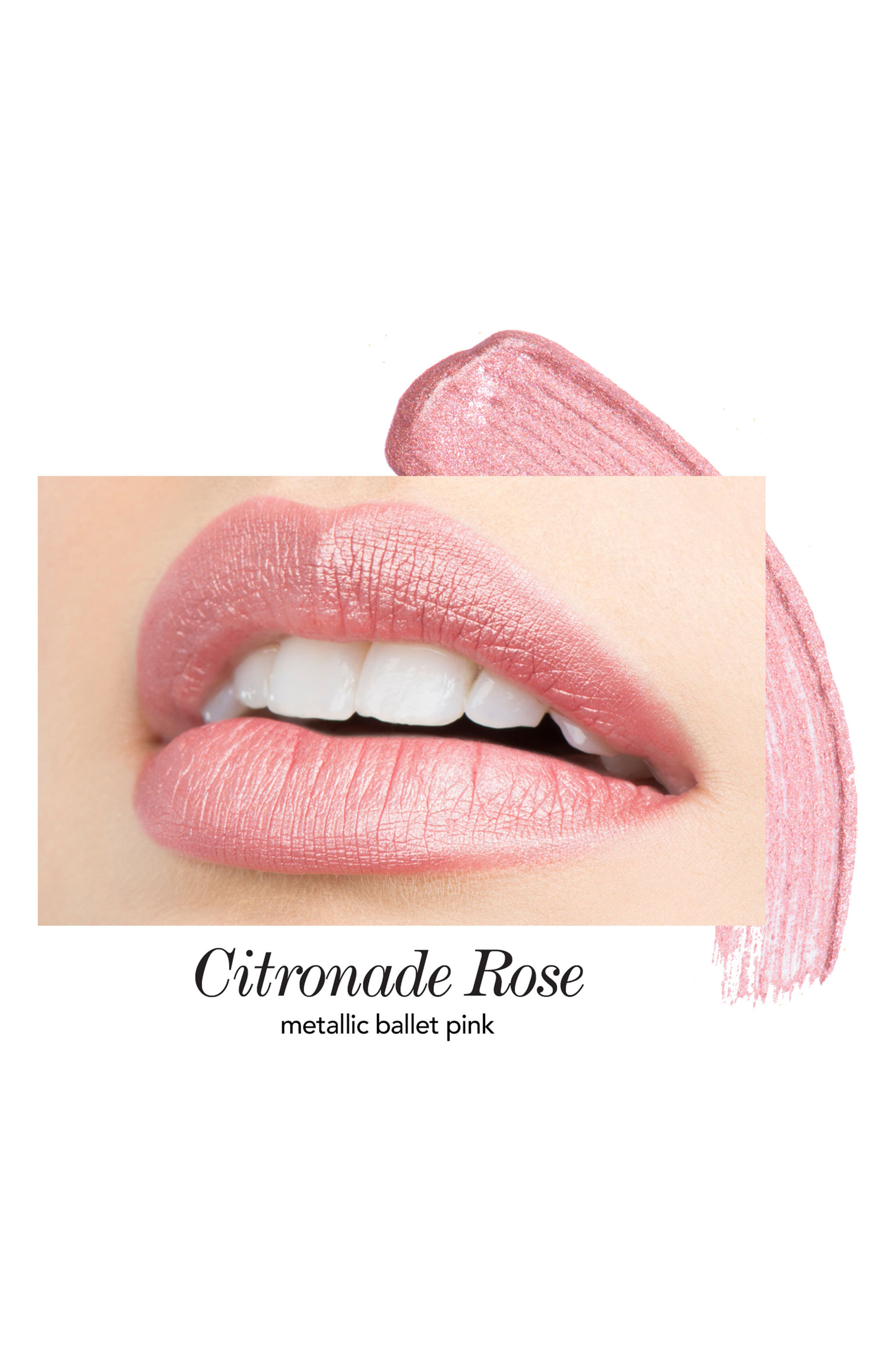 Melon & Citronade Rose Long-Wear Lip Crème Liquid Lipstick Duo,                             Alternate thumbnail 3, color,                             No Color