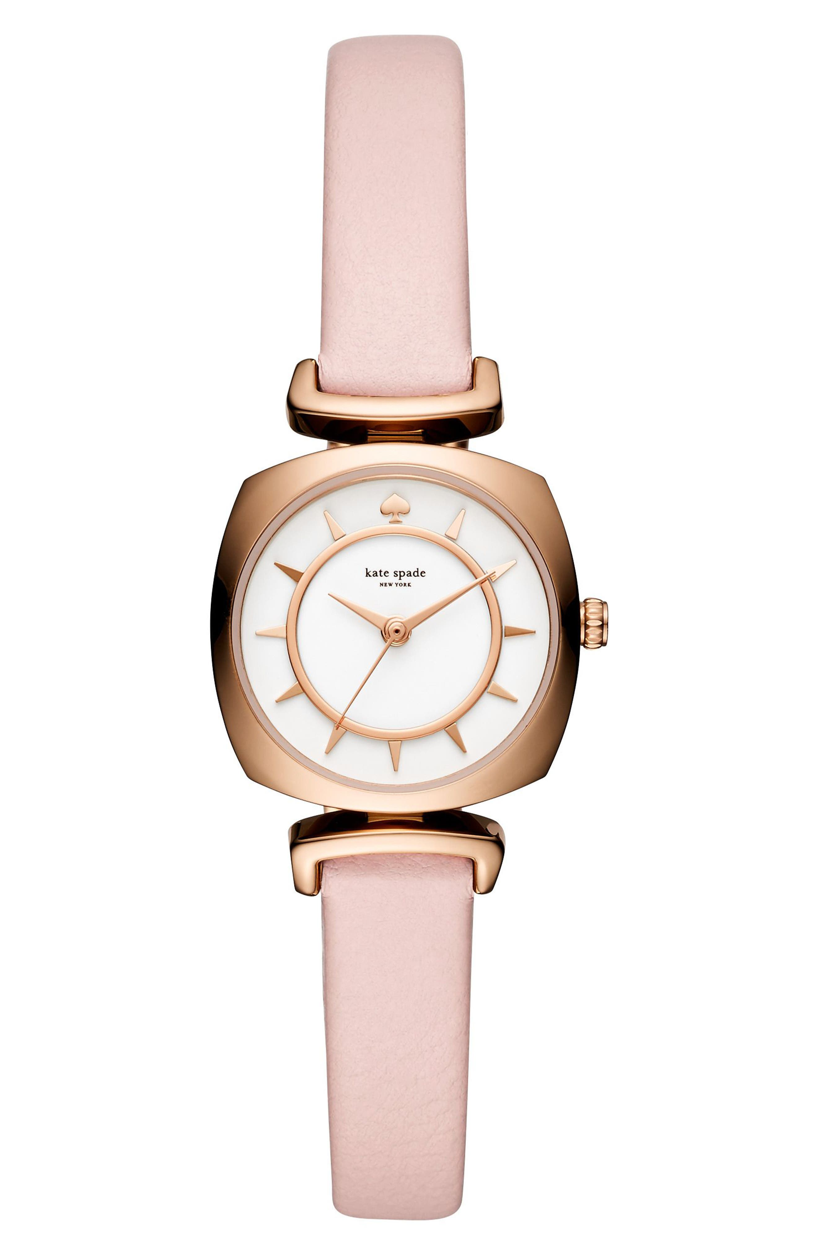 Main Image - kate spade new york barrow leather strap watch, 24mm