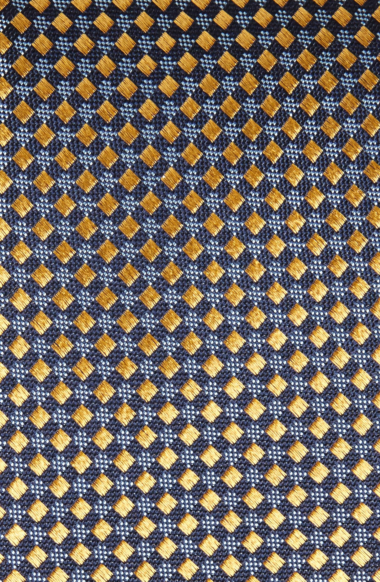 Geometric Silk Tie,                             Alternate thumbnail 2, color,                             Gold