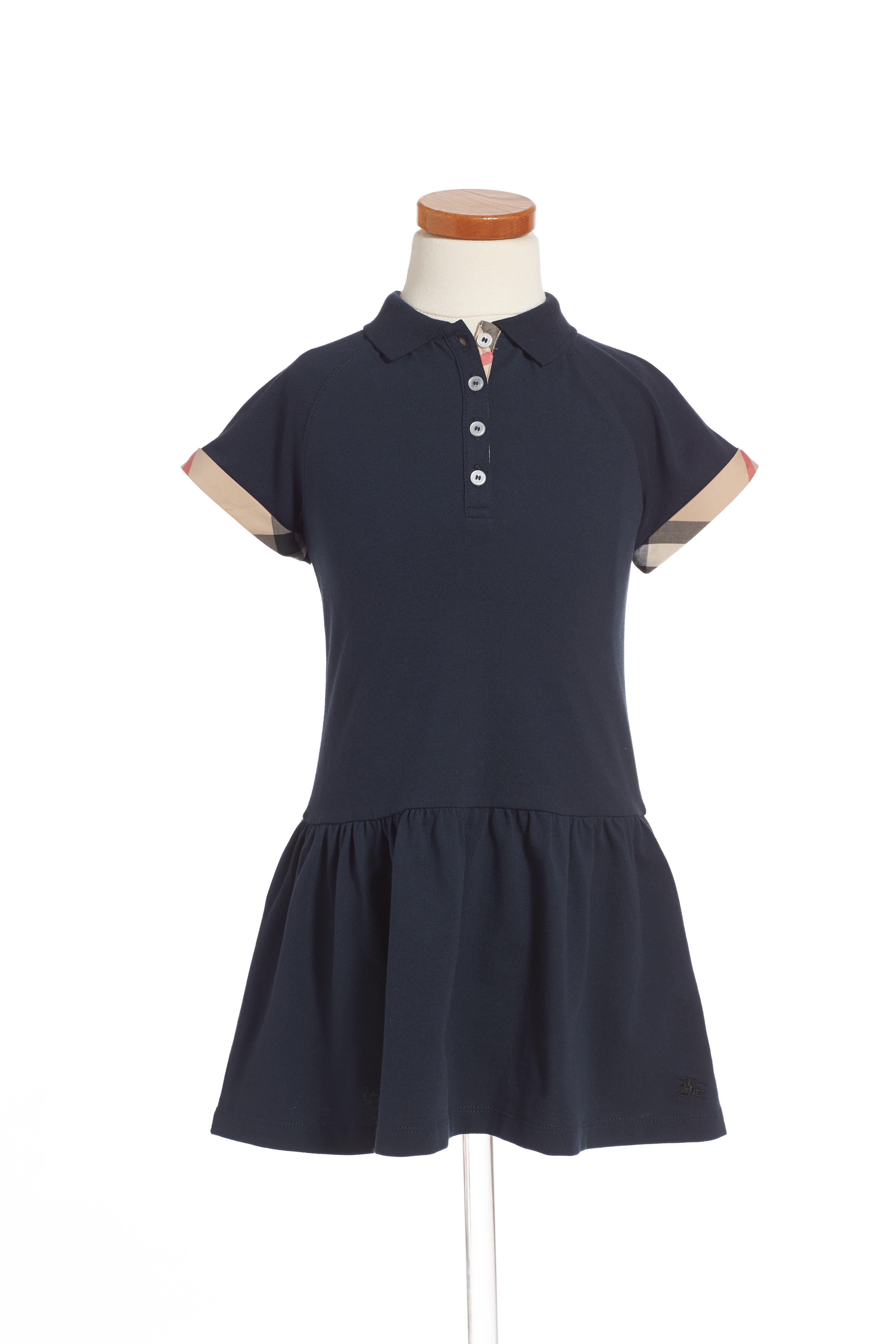 Main Image - Burberry 'Mini Cali' Polo Dress (Toddler Girls, Little Girls & Big Girls)