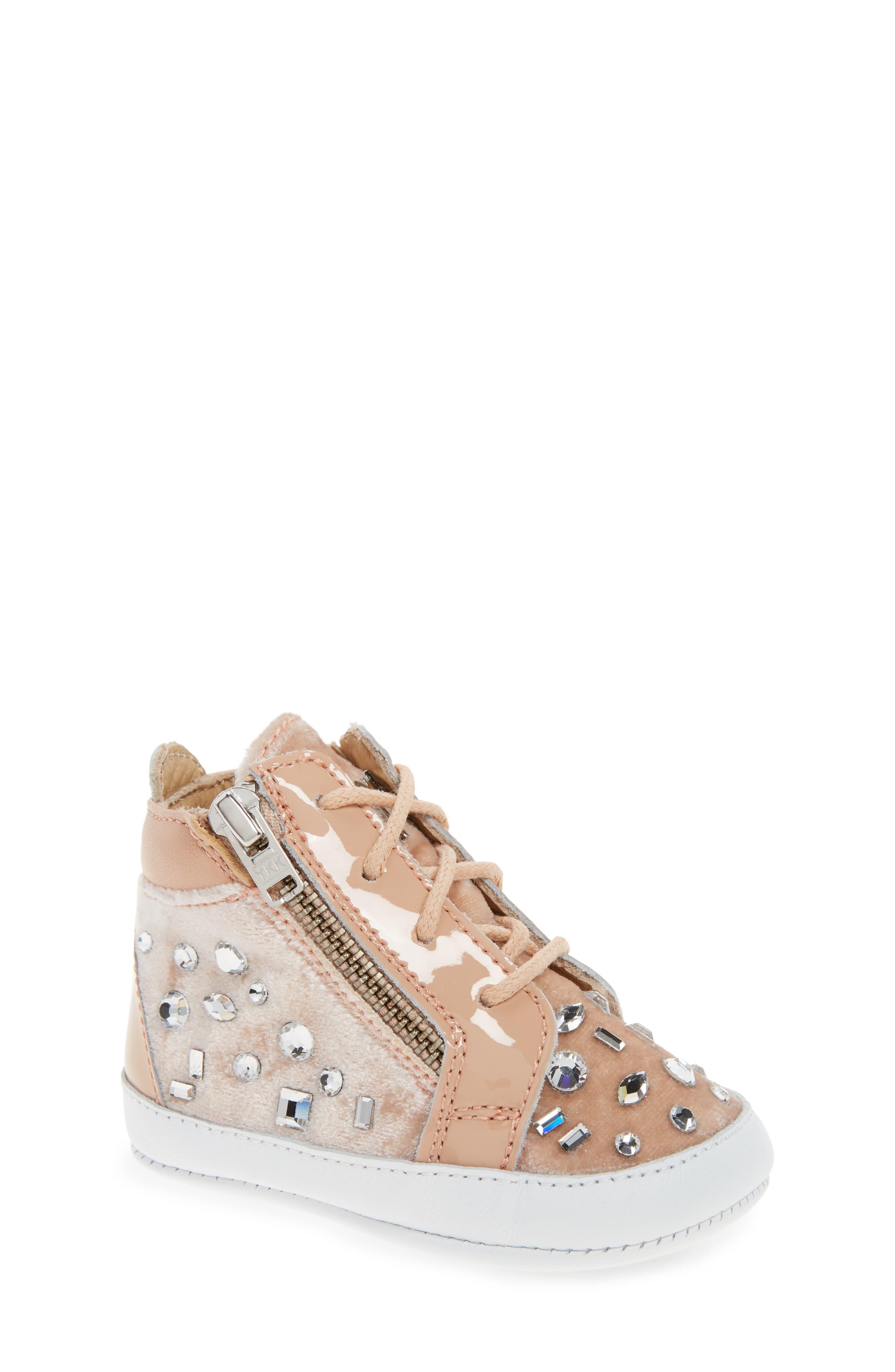 Alternate Image 1 Selected - Giuseppe Zanotti Veronica Embellished Sneaker (Baby, Walker, Toddler & Little Kid)