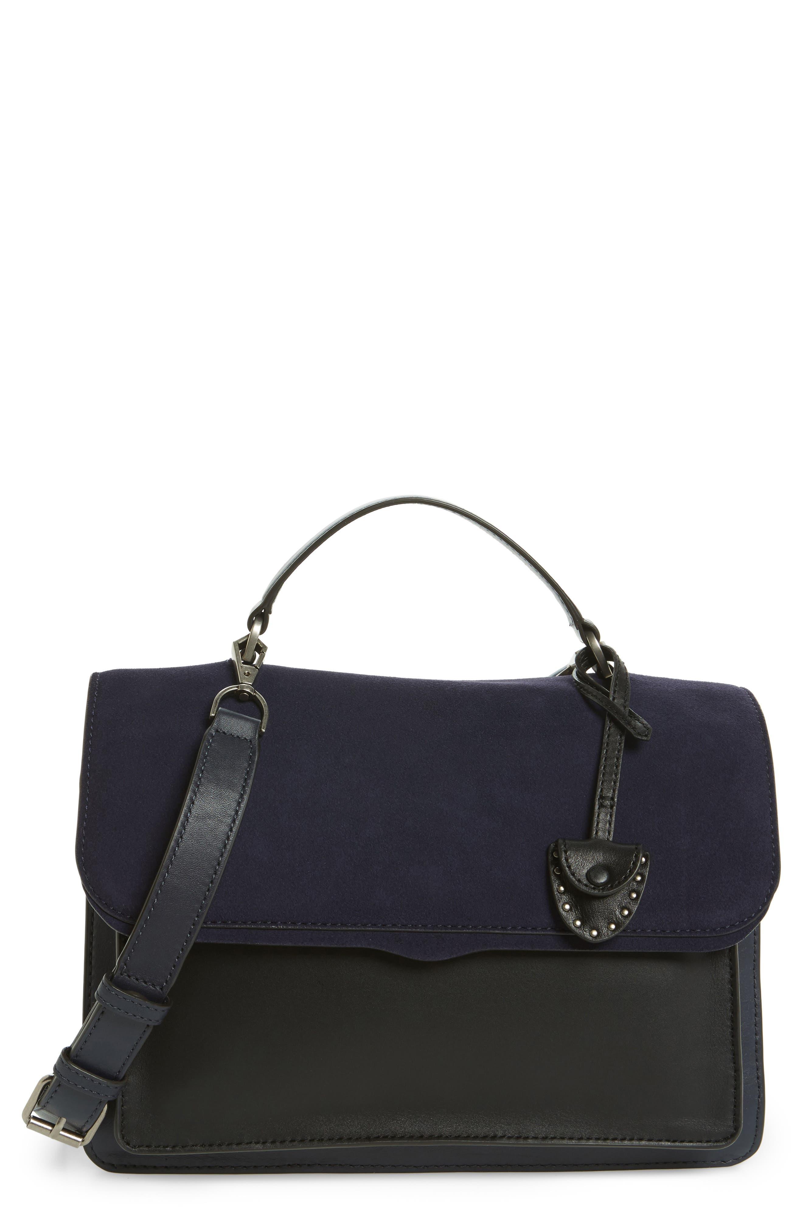 Top Handle Shoulder Bag,                         Main,                         color, Black
