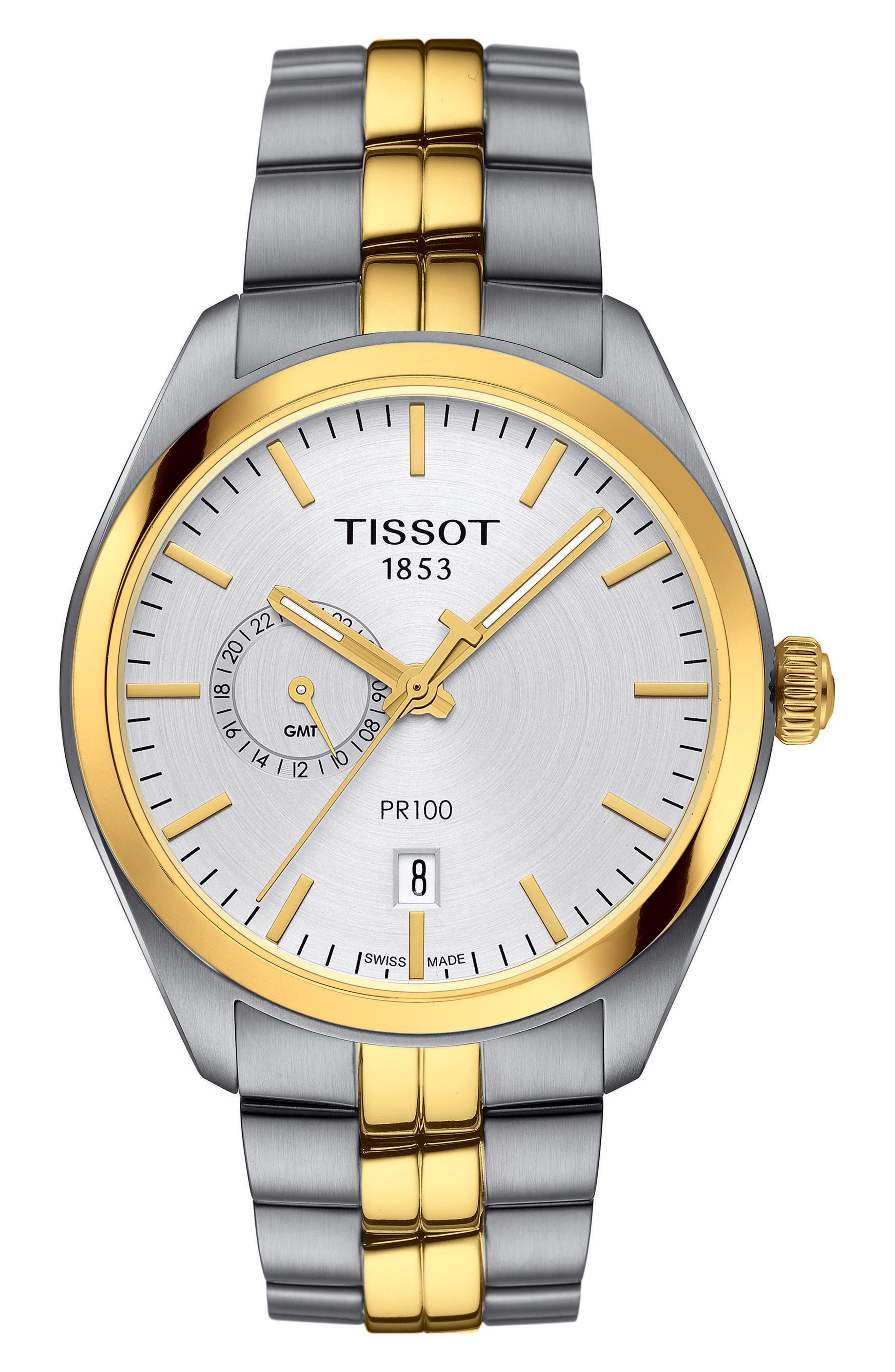 Main Image - Tissot PR100 Bracelet Watch, 39mm