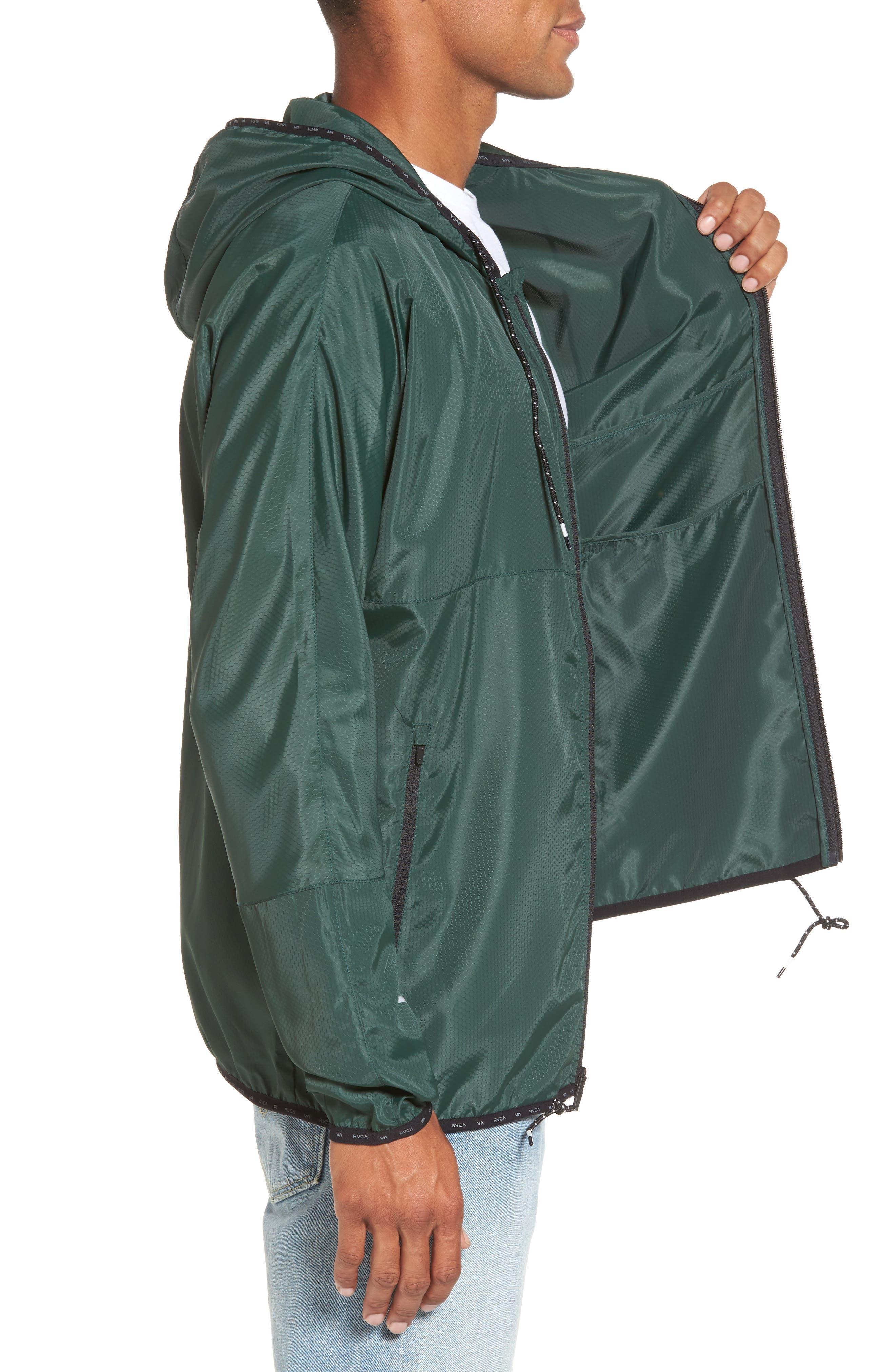 Alternate Image 3  - RVCA Hexstop II Water Repellent Hooded Jacket