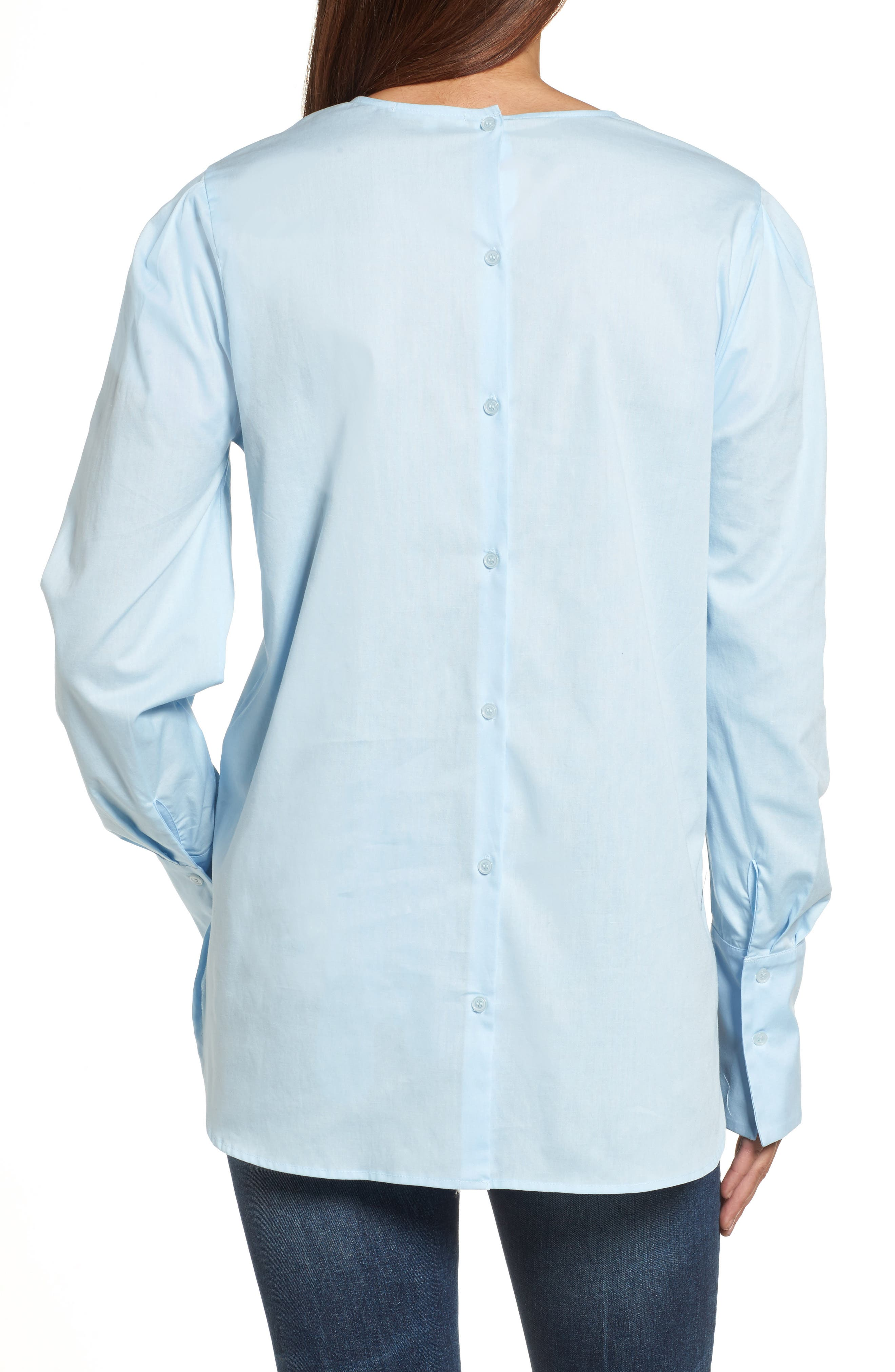 Alternate Image 4  - Pleione Bishop Sleeve Blouse (Regular & Petite)