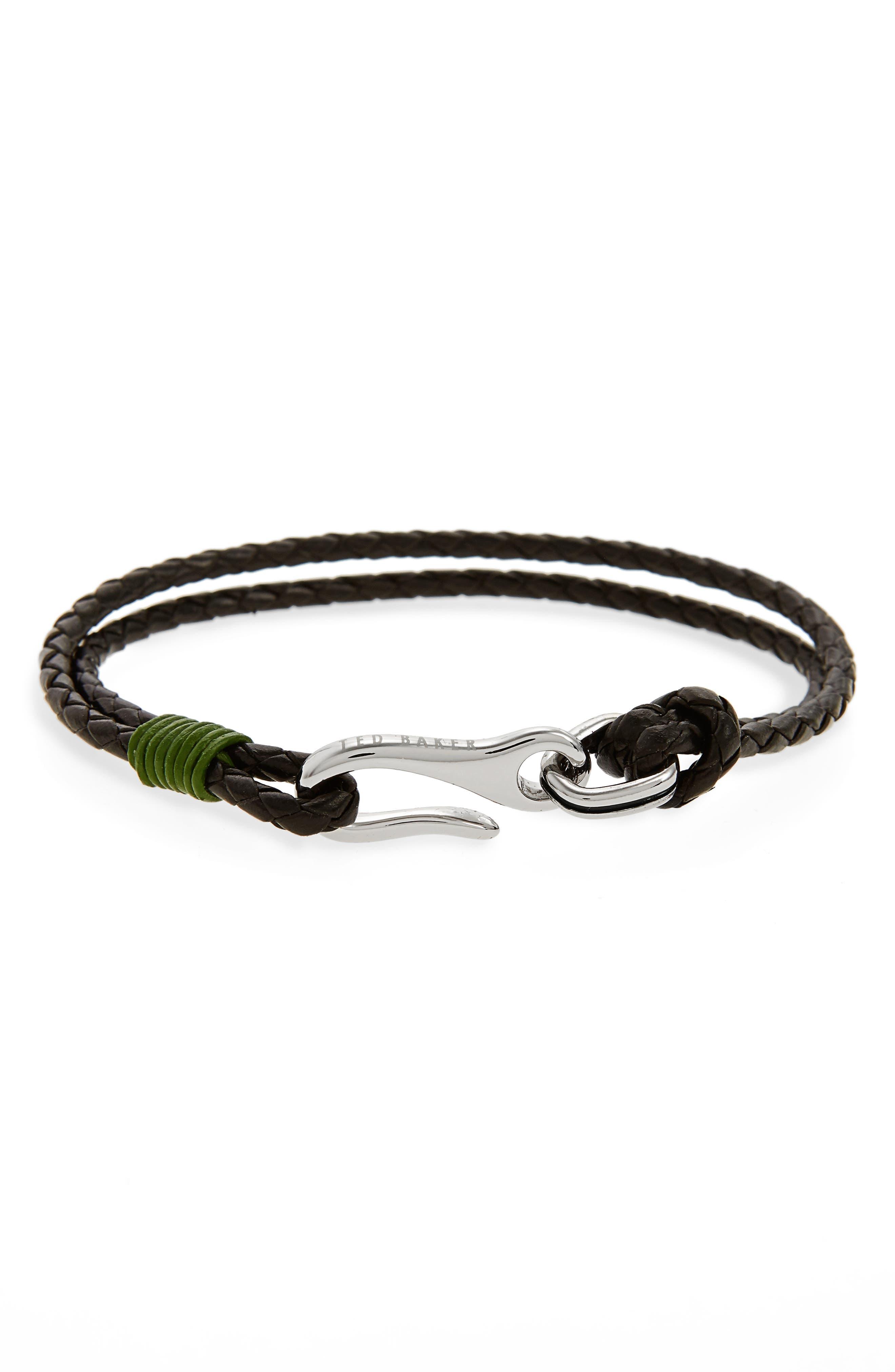 Ted Baker London Twirl Braided Leather Bracelet