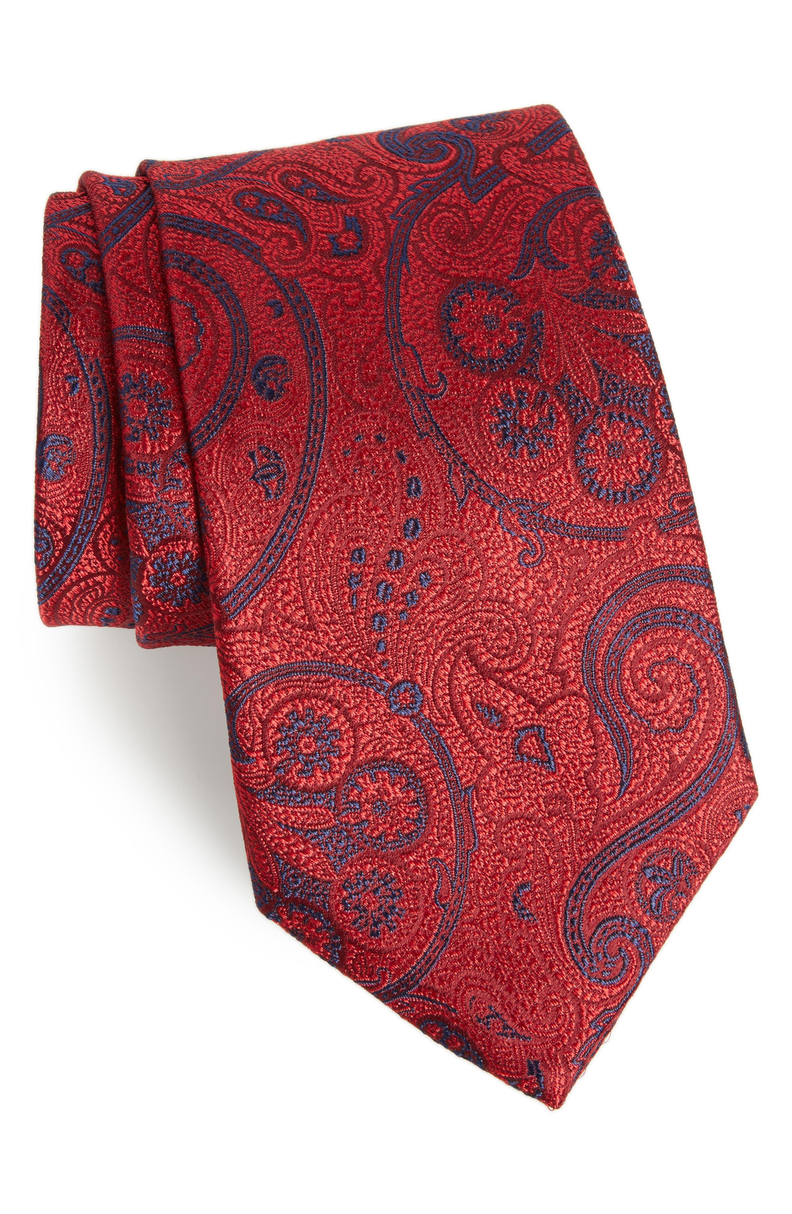 Nordstrom Men's Shop Provincial Paisley Silk Tie (X-Long)