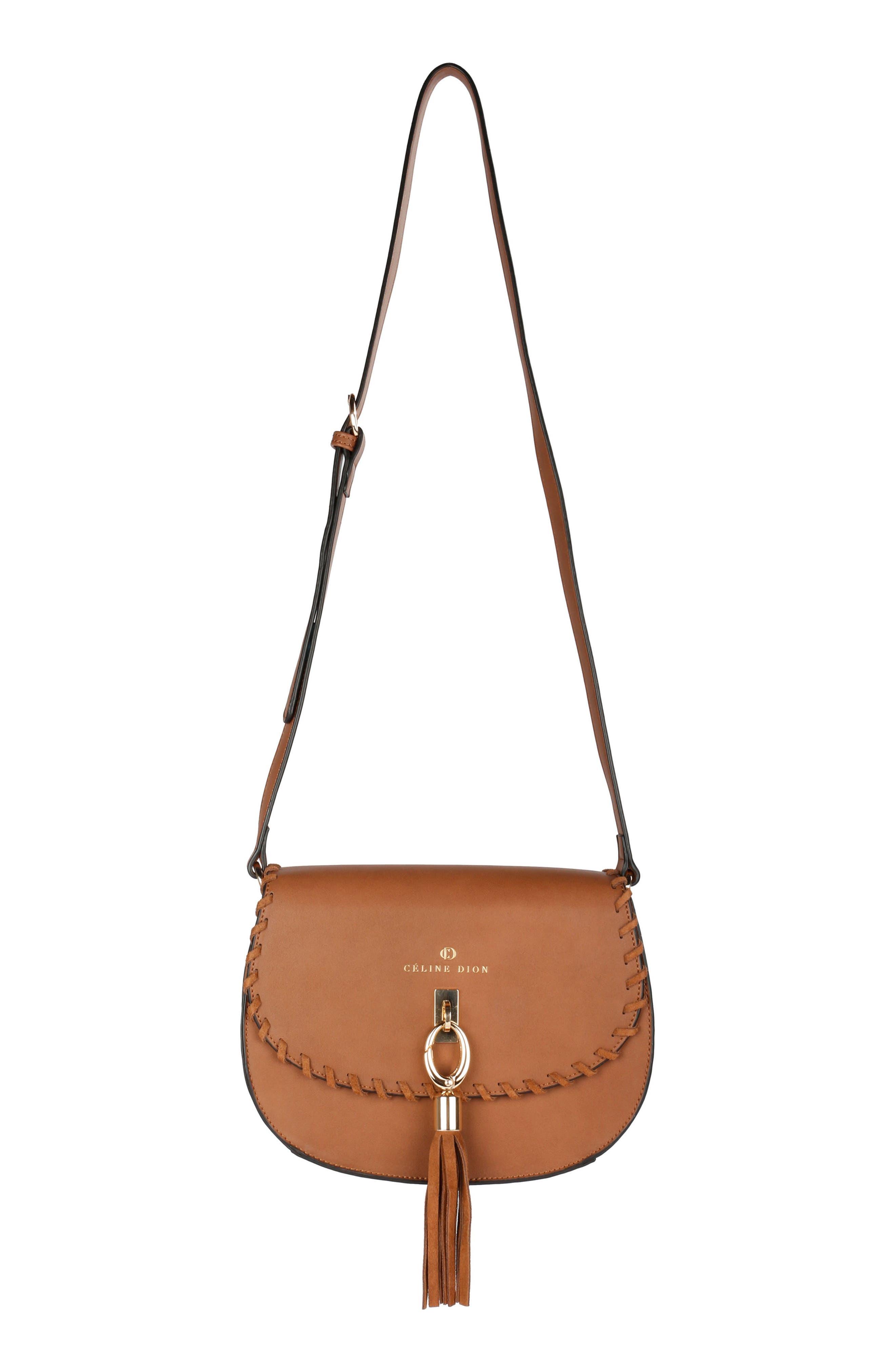 Céline Dion Espressivo Faux Leather Saddle Bag
