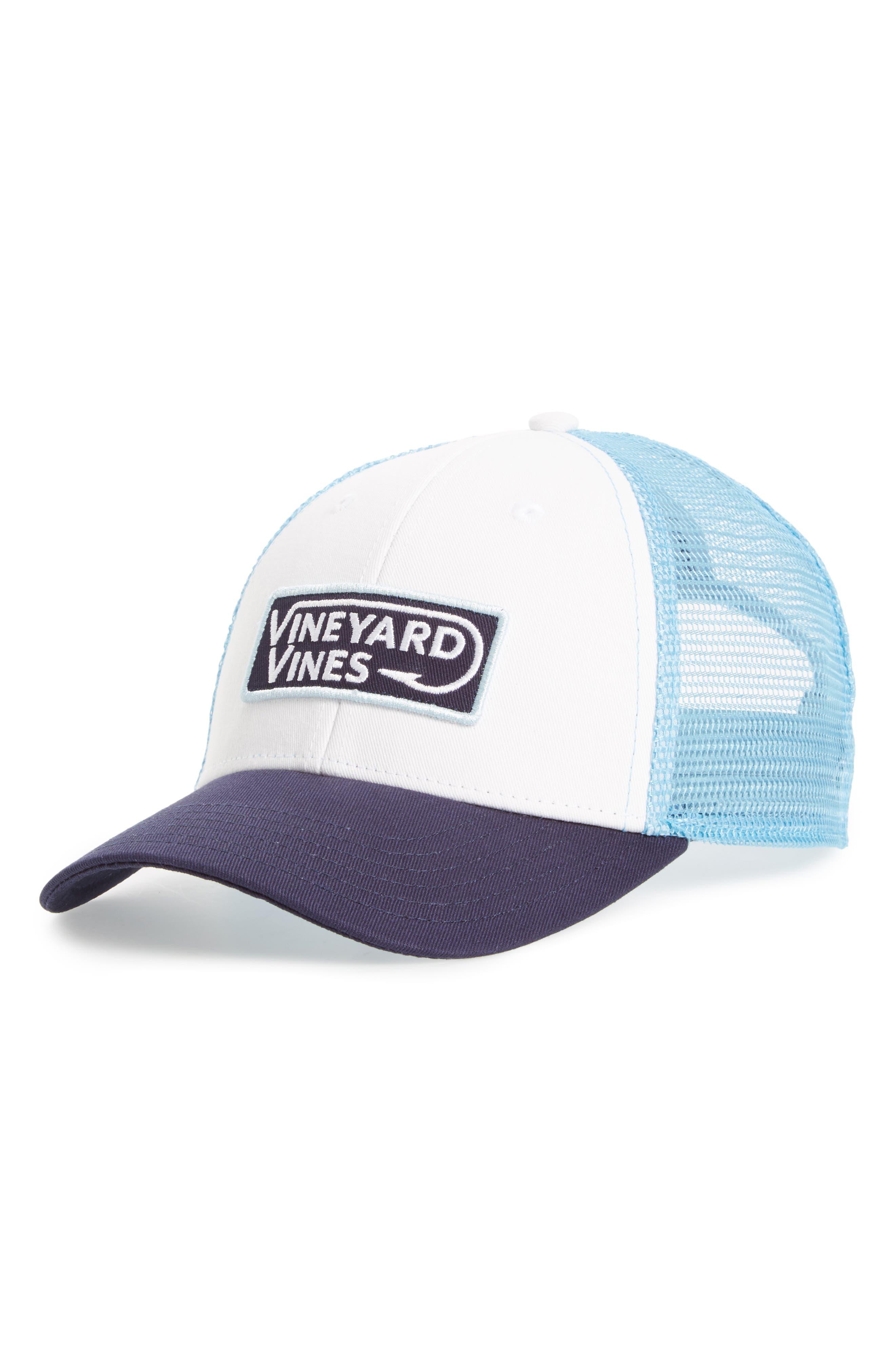 Alternate Image 1 Selected - vineyard vines Hook Patch Trucker Cap