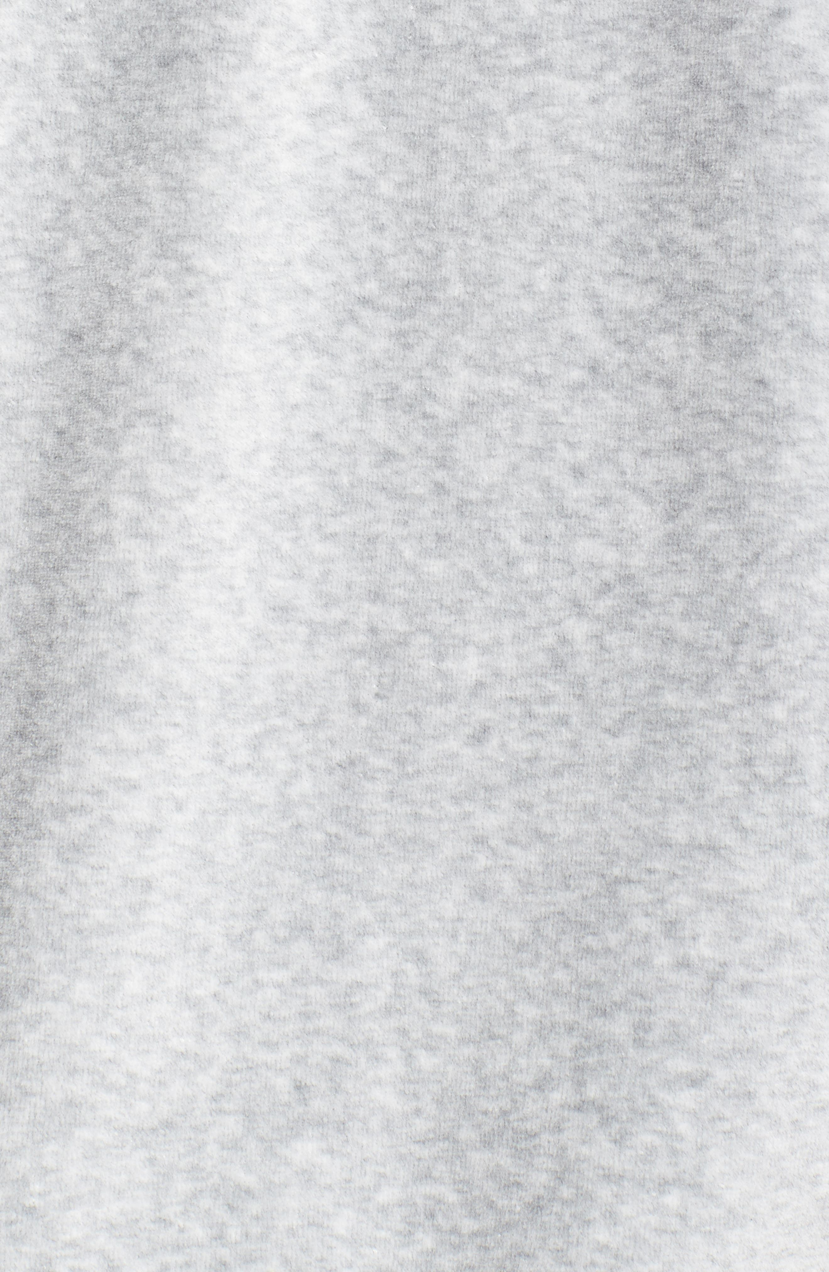Hashtag Velour Tunic Hoodie,                             Alternate thumbnail 6, color,                             Grey Light Heather