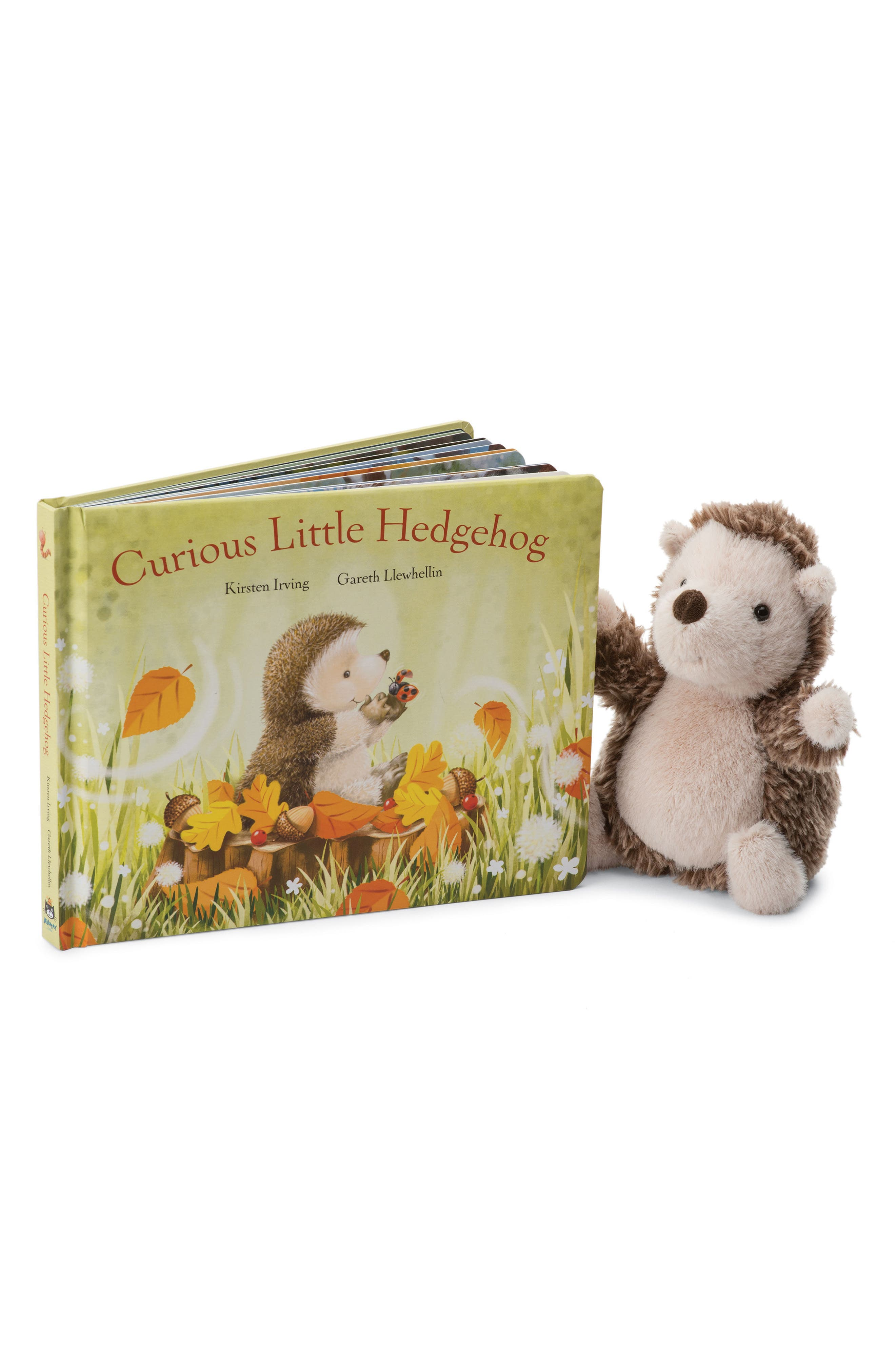 Alternate Image 1 Selected - Jellycat Curious Little Hedgehog Book & Plush Toy