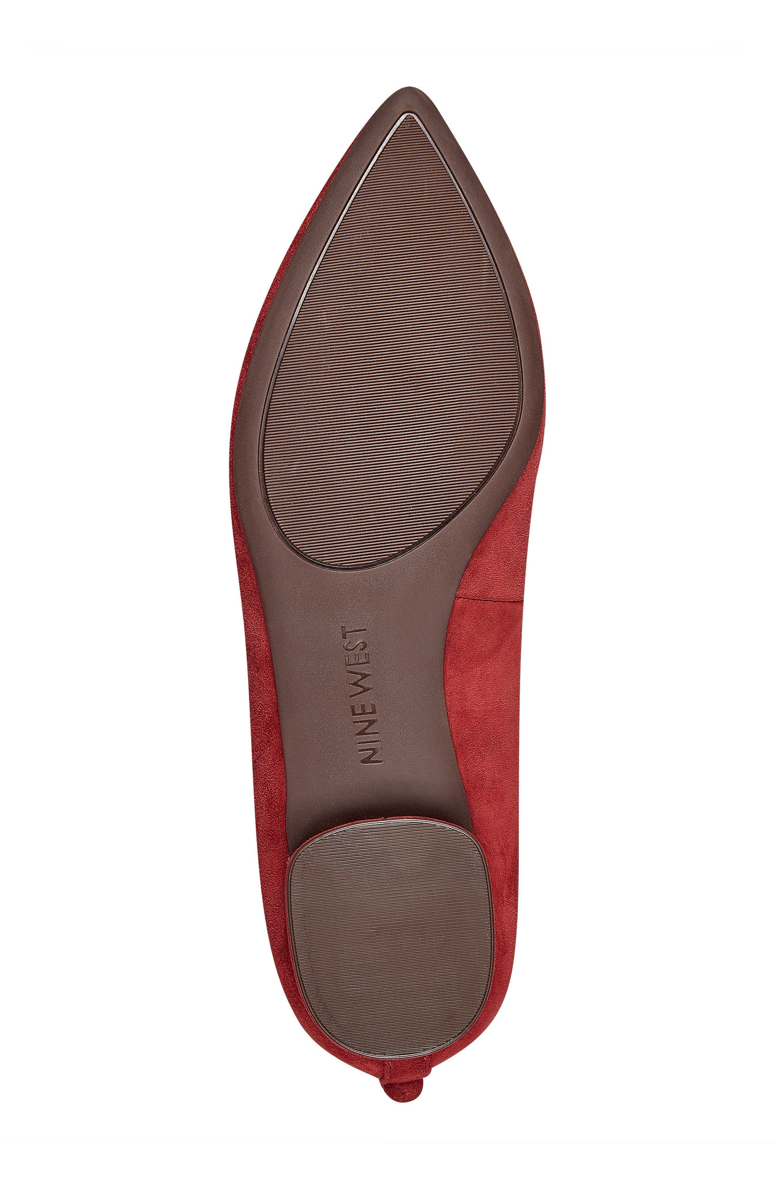 Owl Skimmer Flat,                             Alternate thumbnail 6, color,                             Red Suede