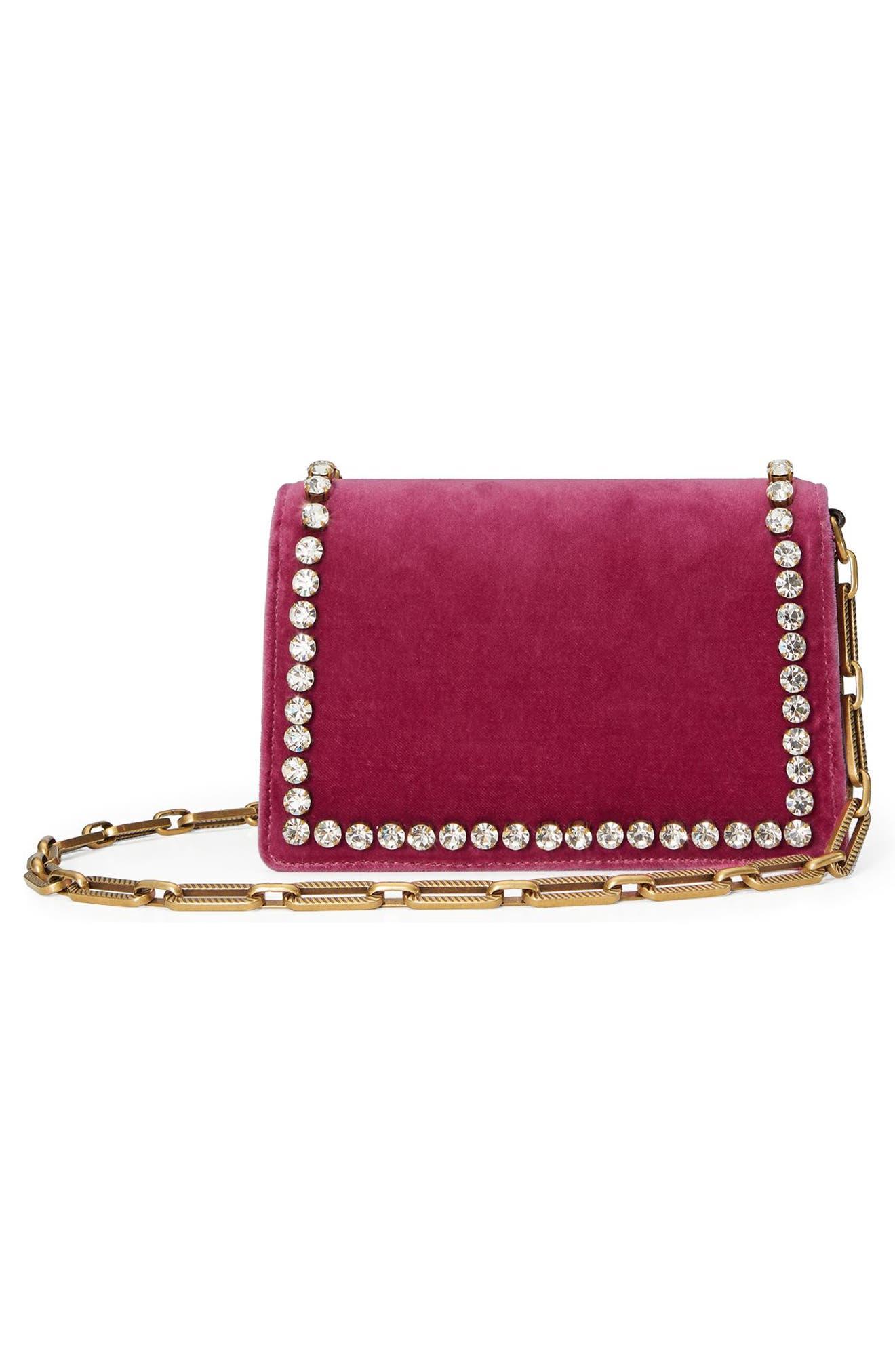 Broadway Bee Velvet Shoulder Bag,                             Alternate thumbnail 2, color,                             Pink