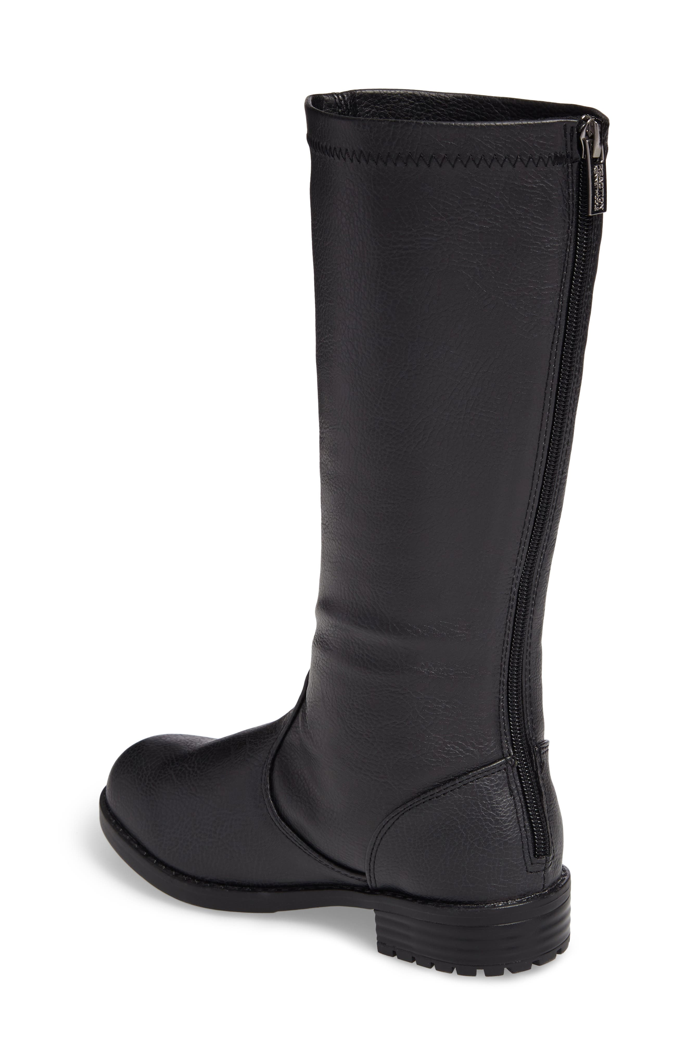 Autumn Stretch Boot,                             Alternate thumbnail 2, color,                             Black Faux Leather