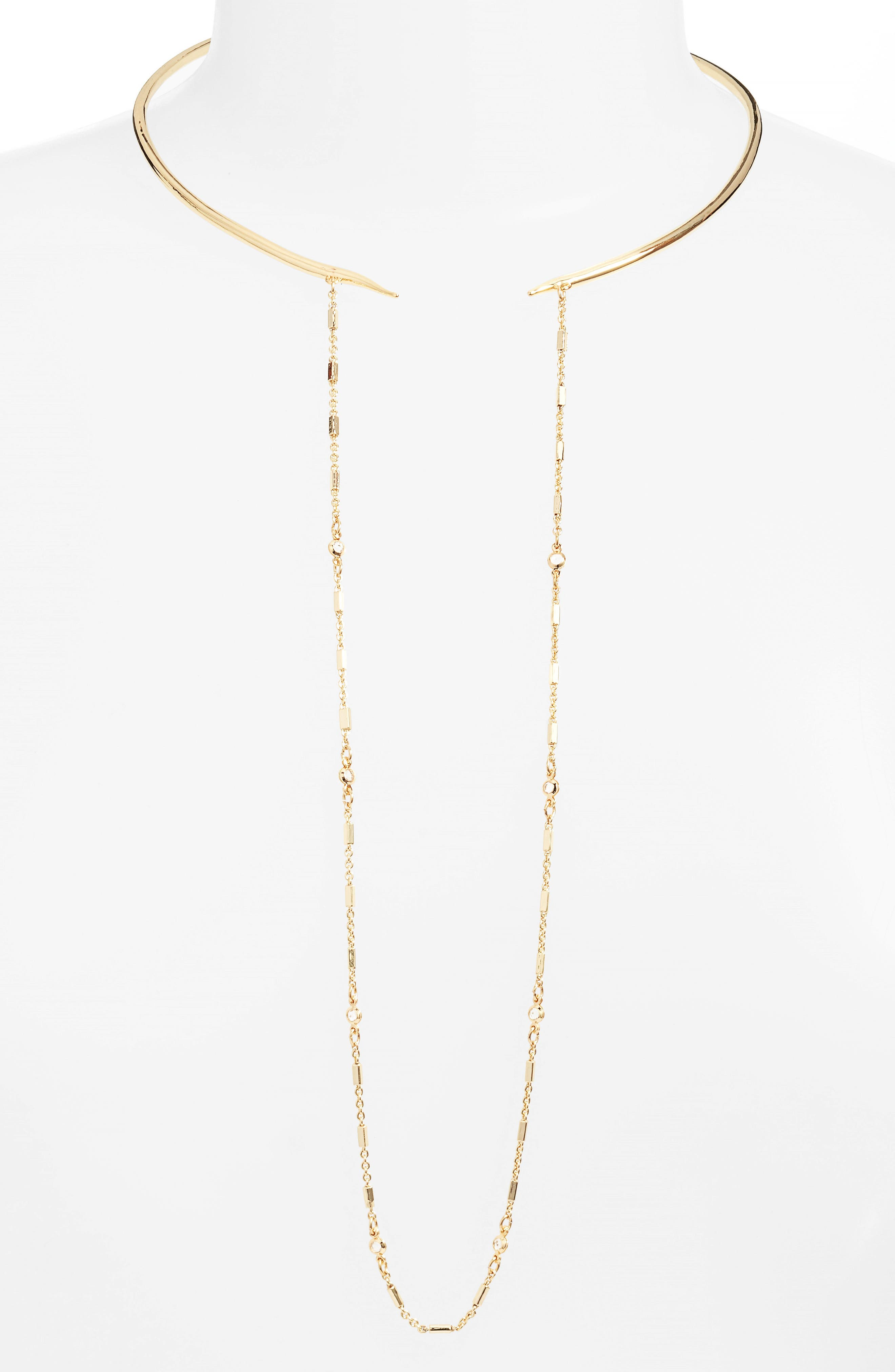 Hinge Collar Necklace,                         Main,                         color, Gold