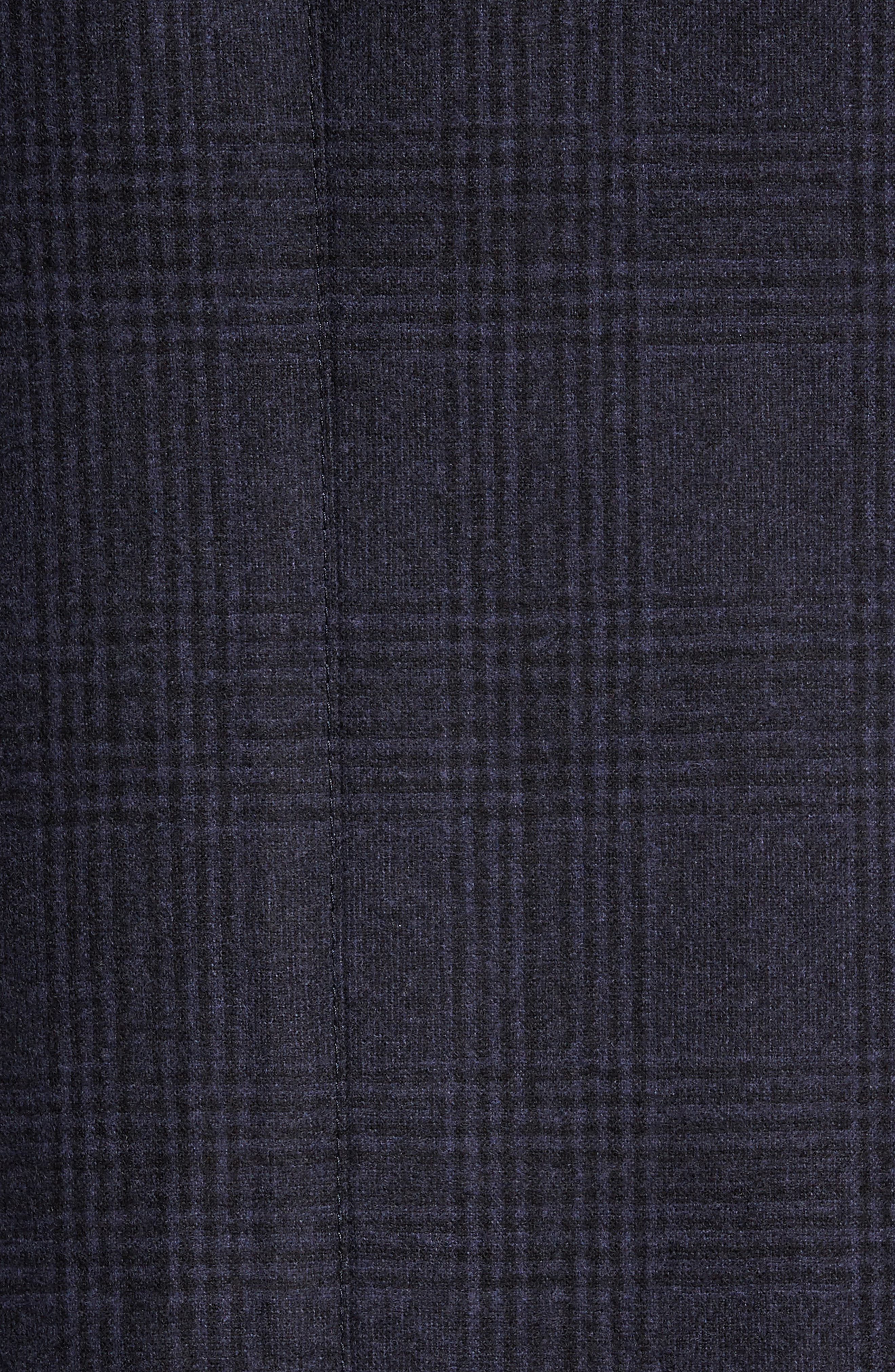 Classic Fit Plaid Merino Wool Jersey Sport Coat,                             Alternate thumbnail 5, color,                             Navy