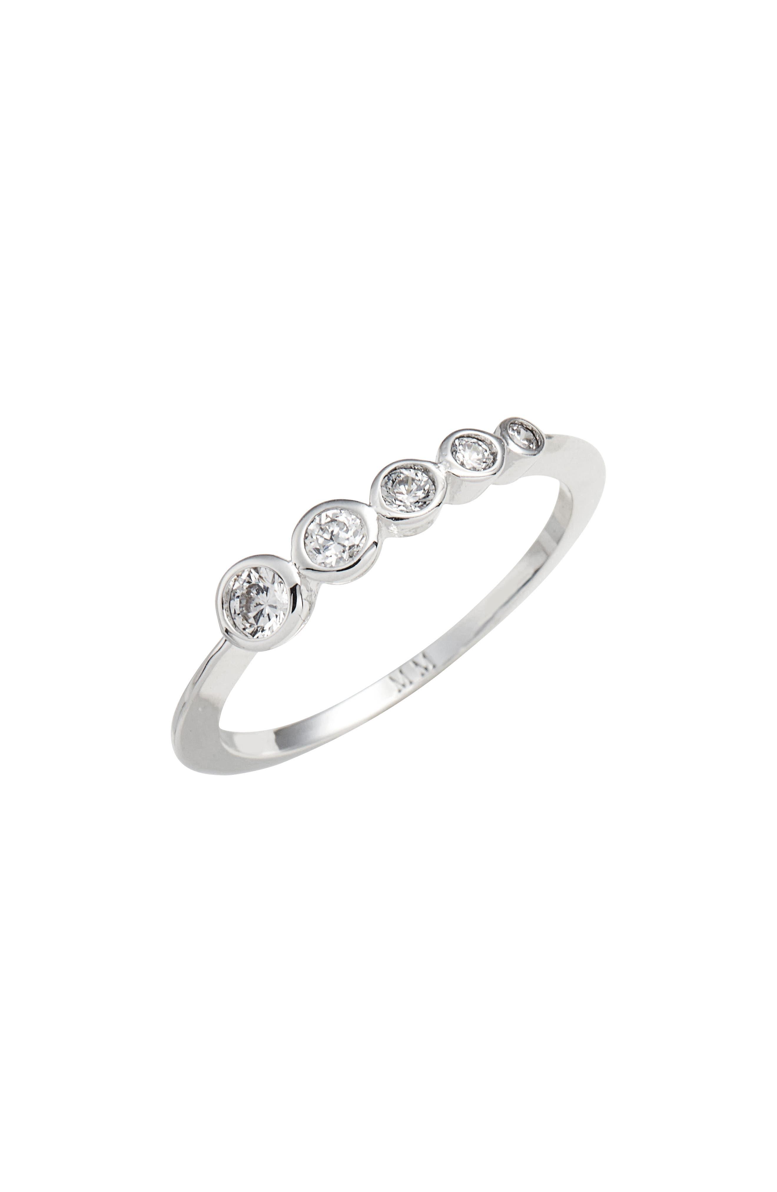 Julia Cluster Ring,                             Main thumbnail 1, color,                             Silver