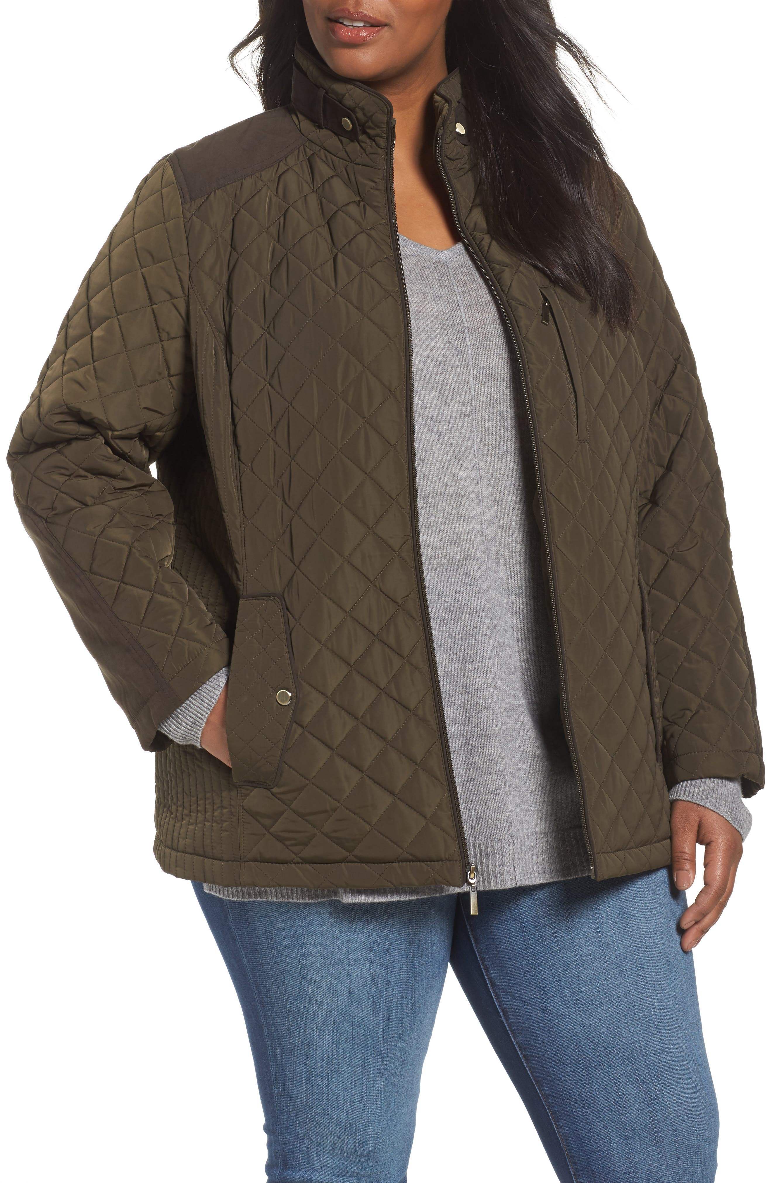 Alternate Image 1 Selected - Gallery Insulated Jacket (Plus Size)